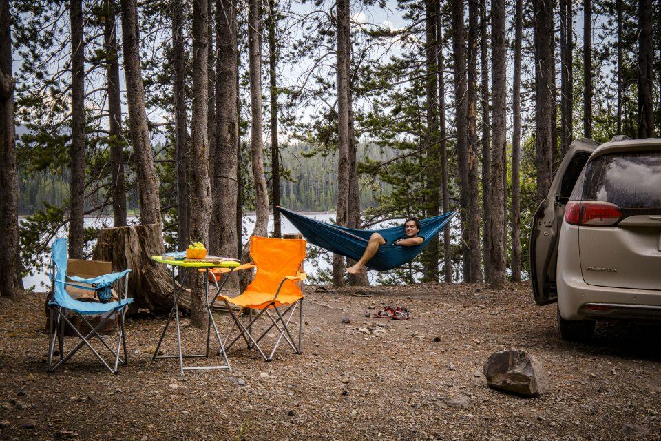 Wildcamping außerhalb der Nationalparkgrenzen
