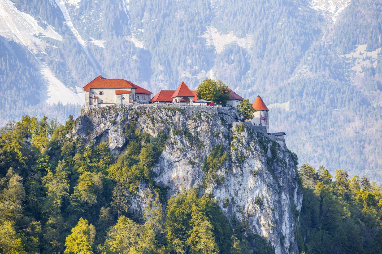 die majestätische Burg Bled