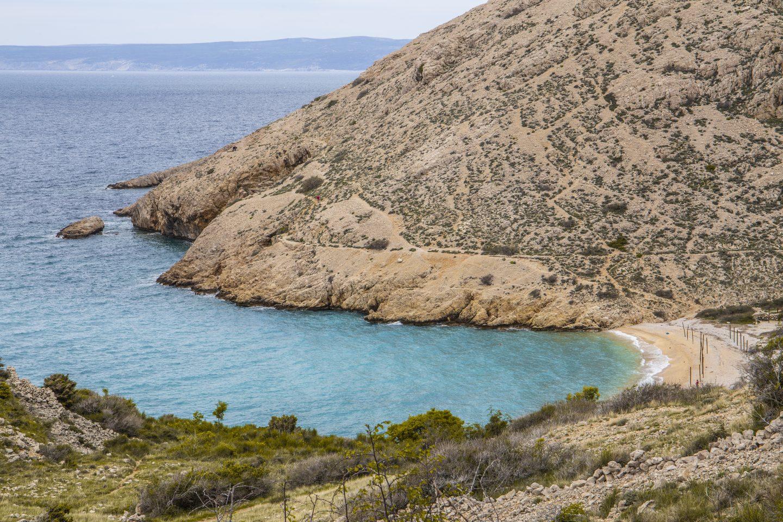 einsame Bucht auf der Insel Krk