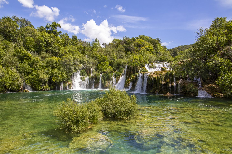 die Wasserfälle des Skradinski Buk