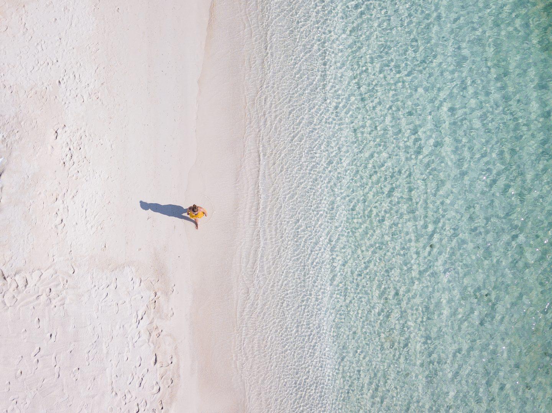 Ein albanischer Strand für uns alleine