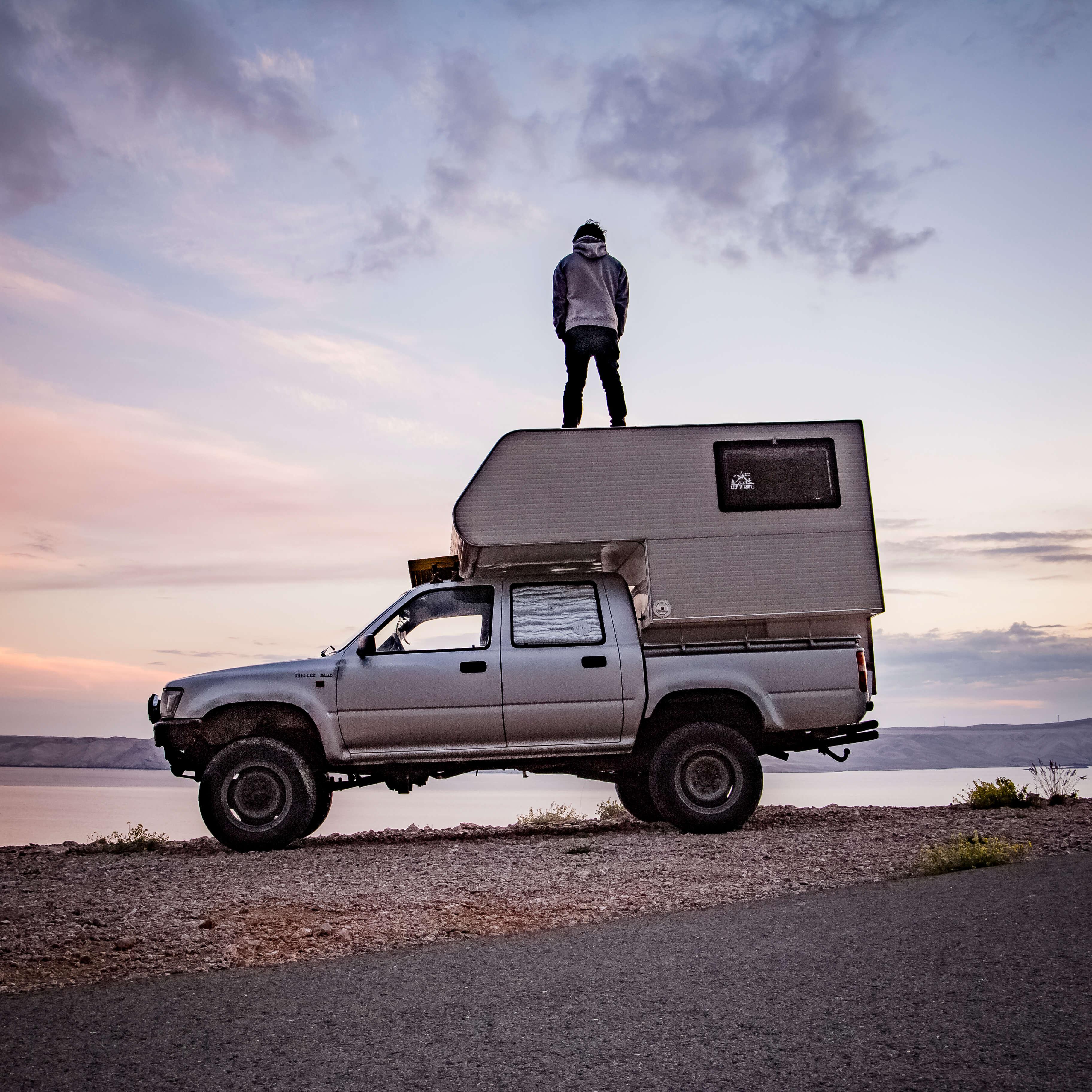 Lukas und unser Reisemobil Moose