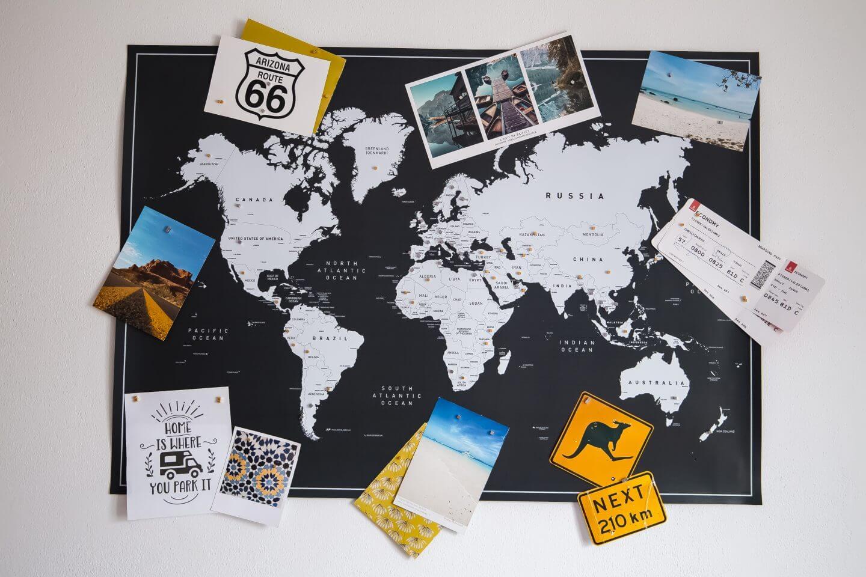 Vacentures Weltkarte