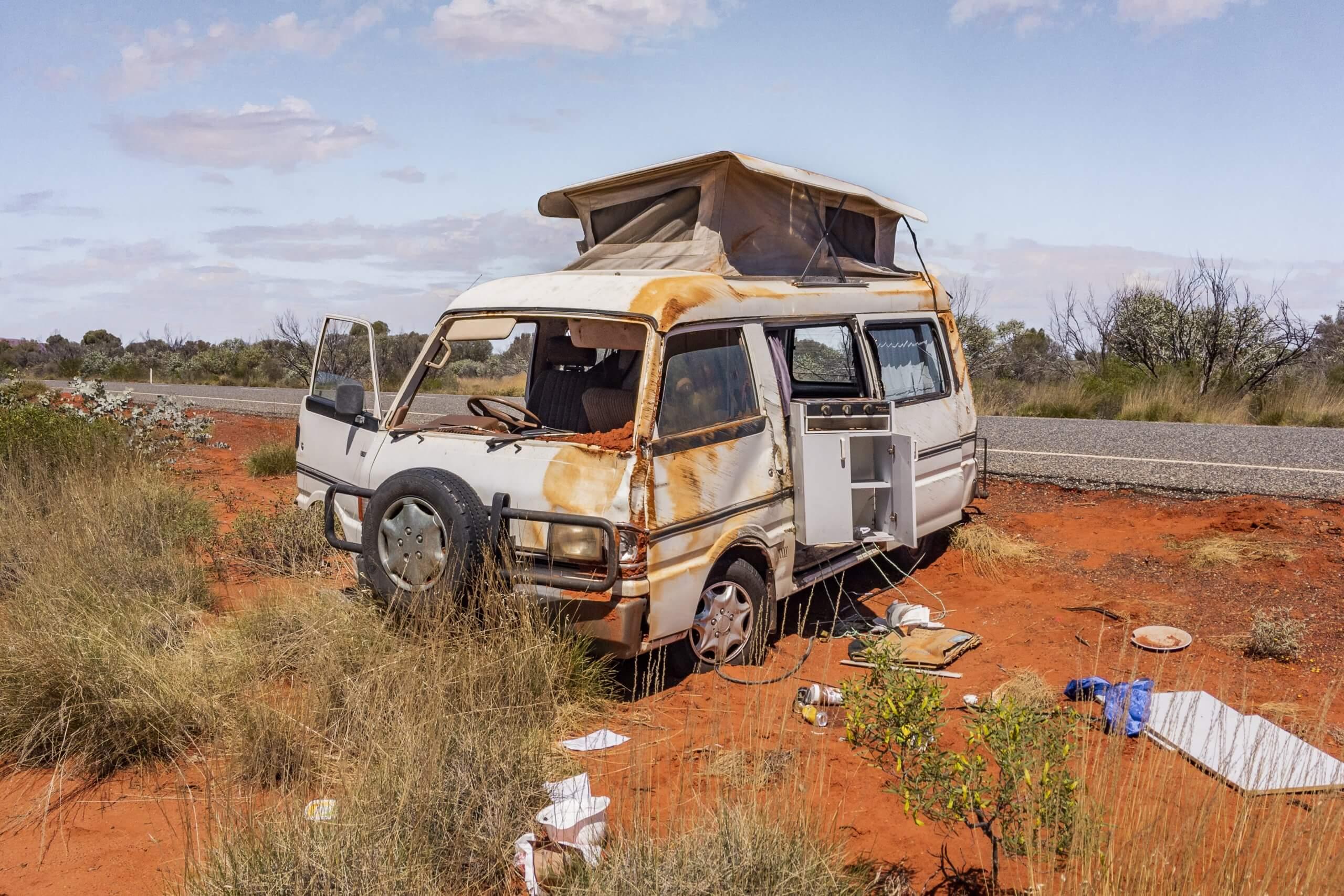das Unfallrisiko im Outback ist sehr hoch