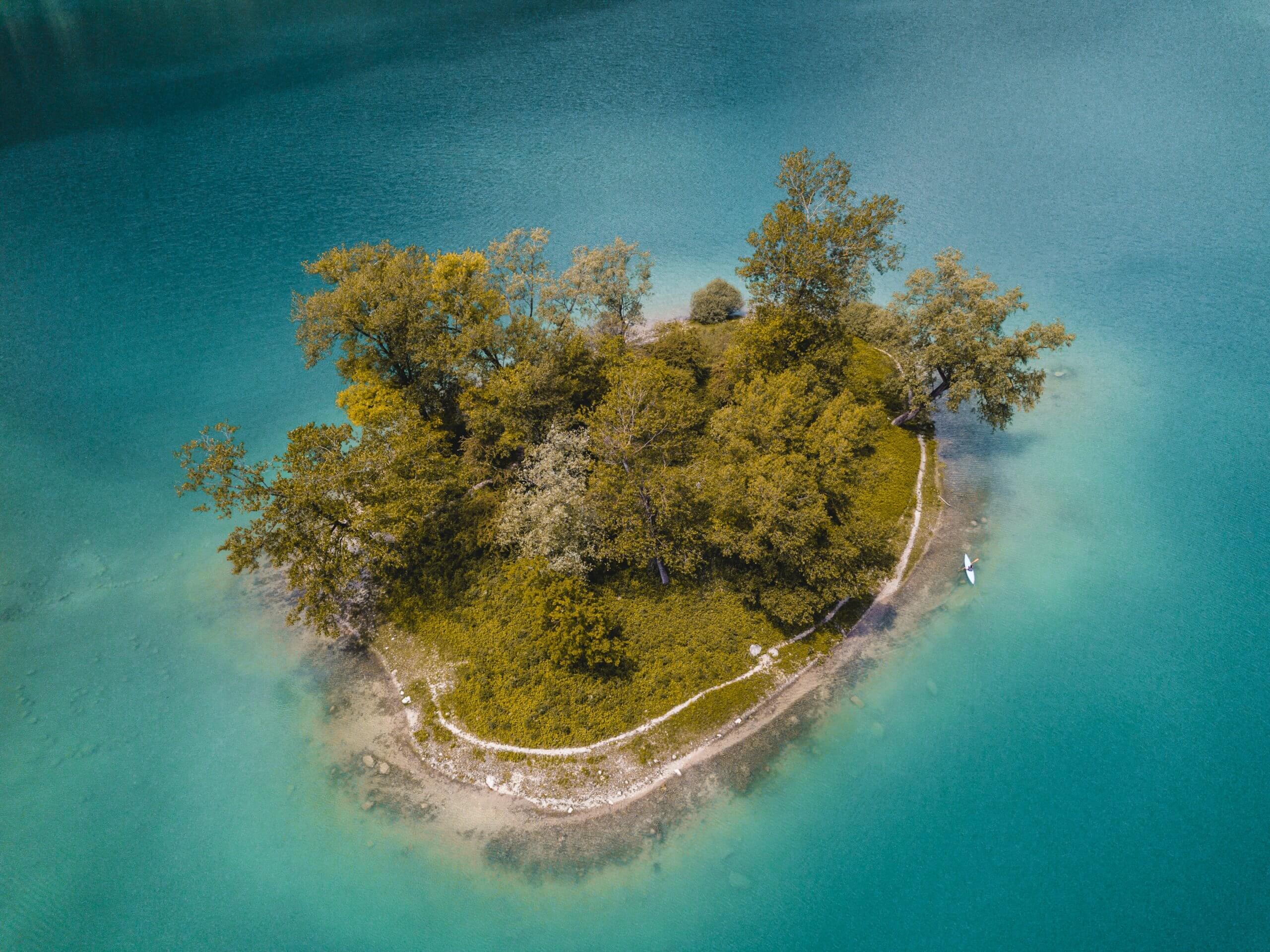 Inselchen im Lago di Tenno