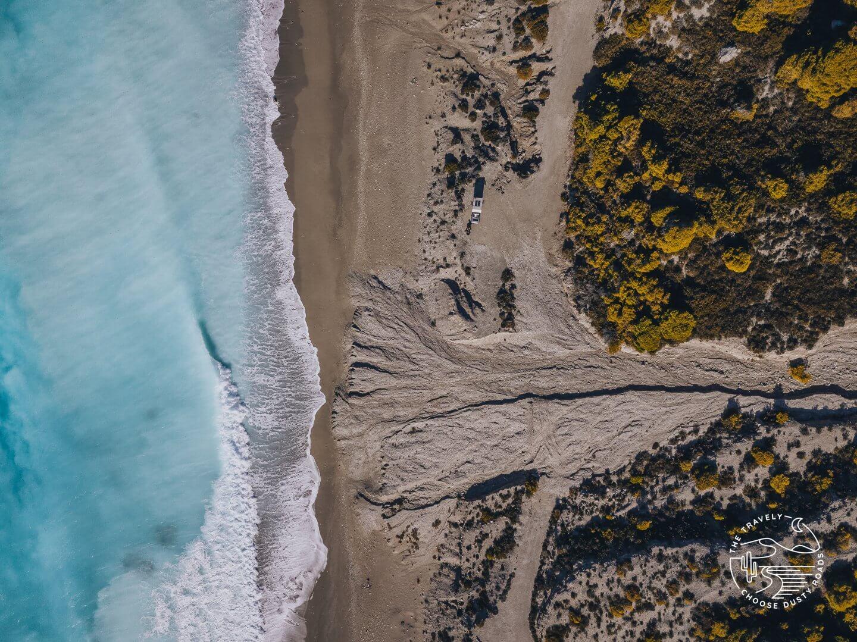 Am wunderschönen Gialos Beach