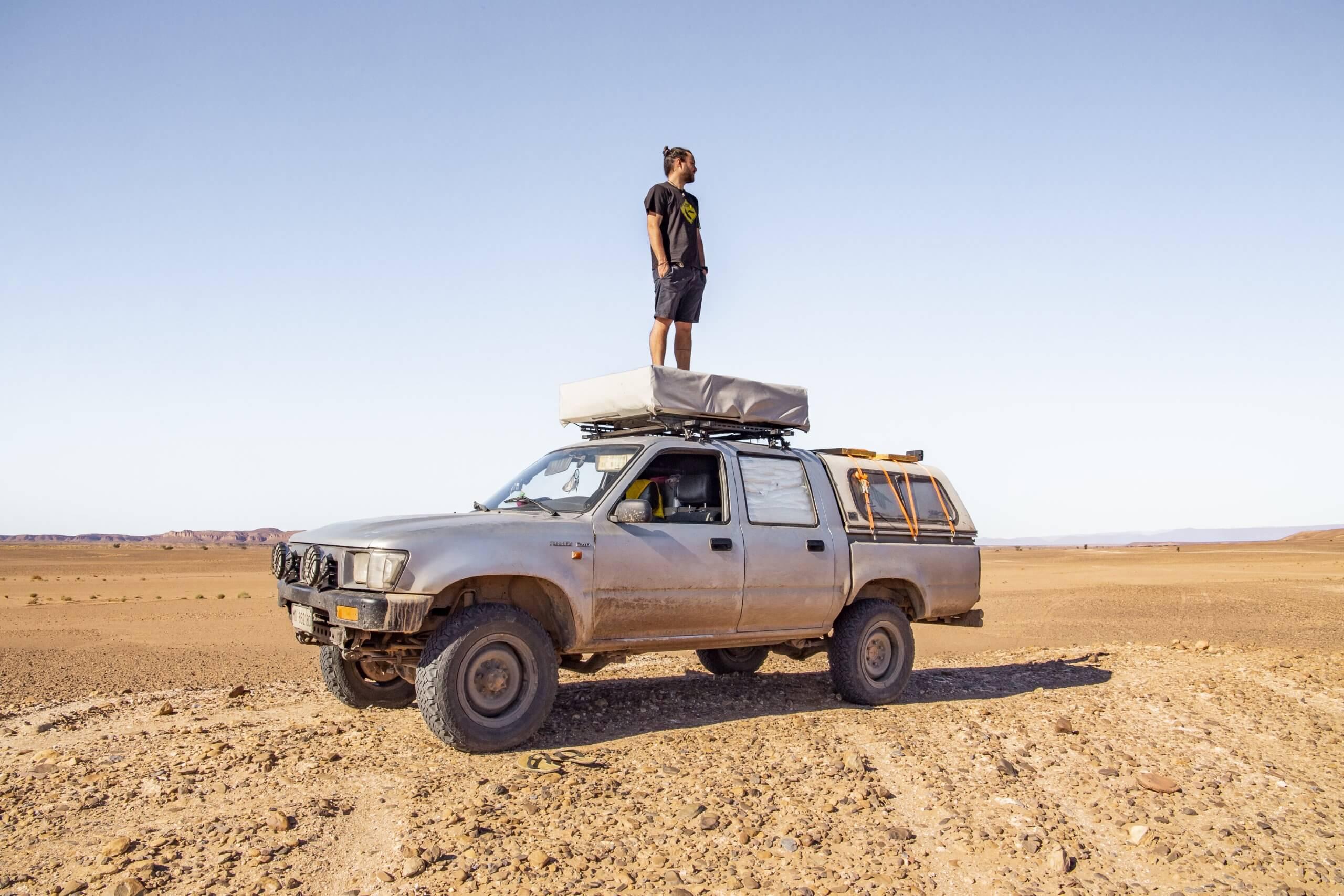 auf dem Weg in die Wüste