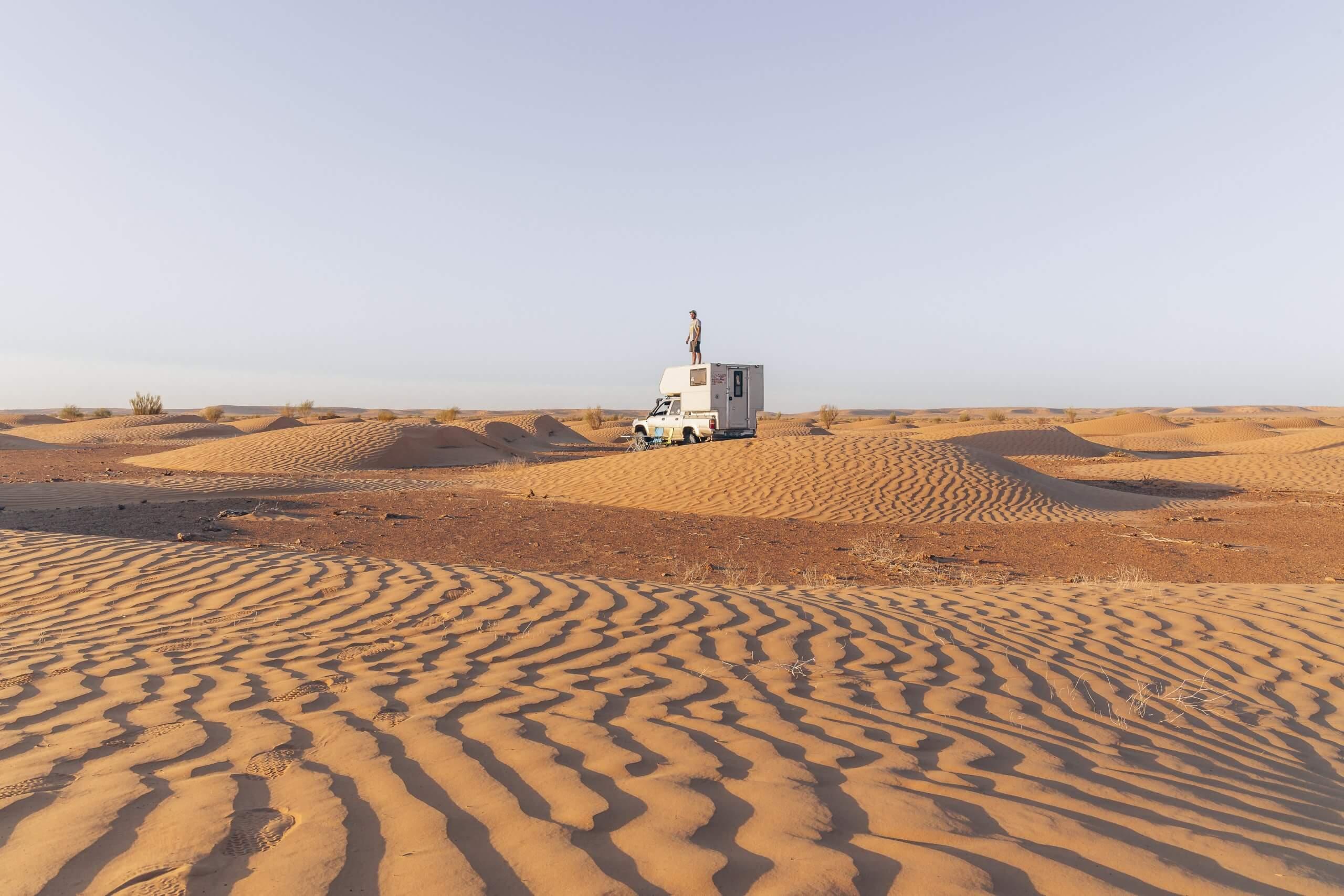 unser Campspot in der Wüste