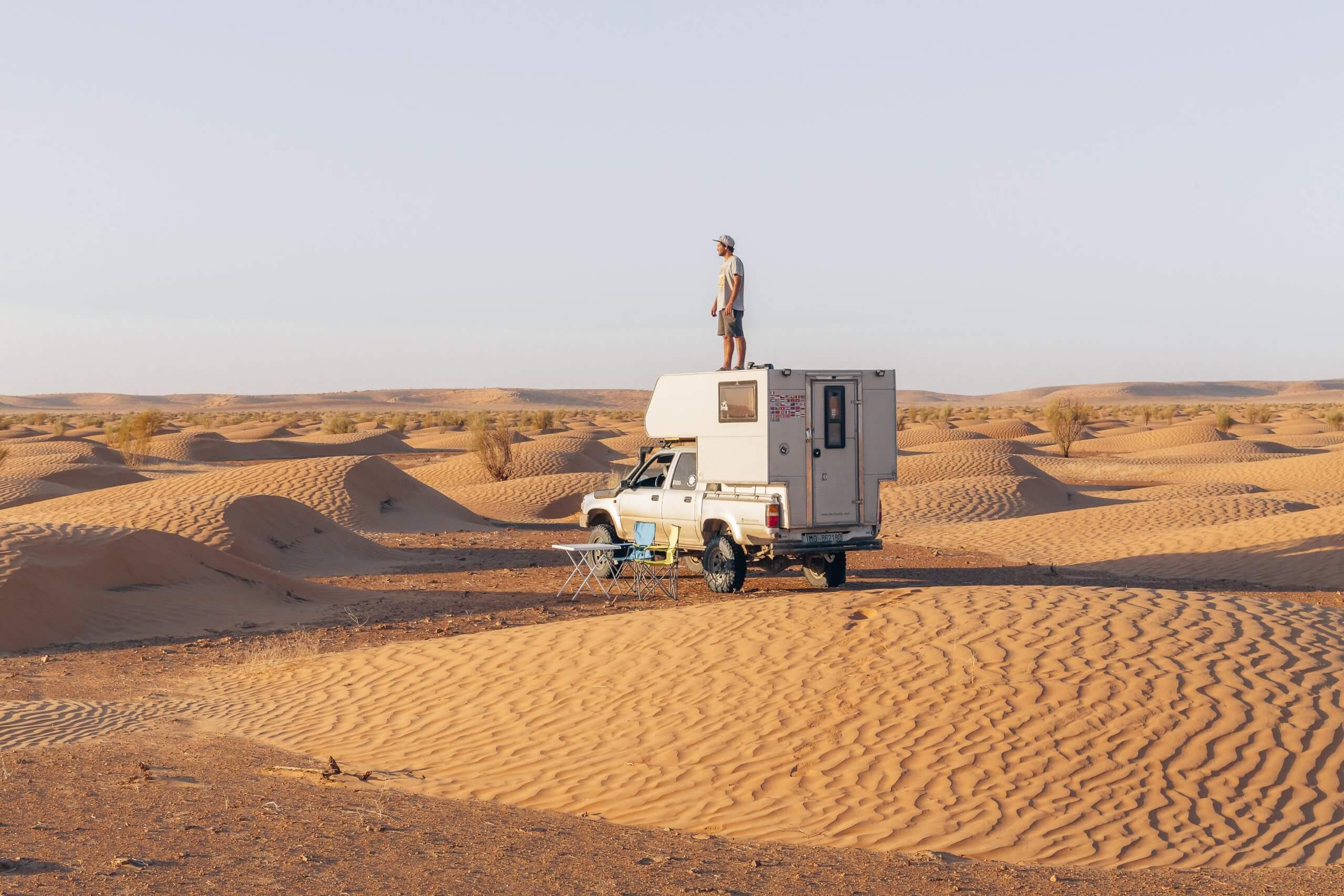 unser Lieblings-Stellplatz in der Wüste Tunesien's