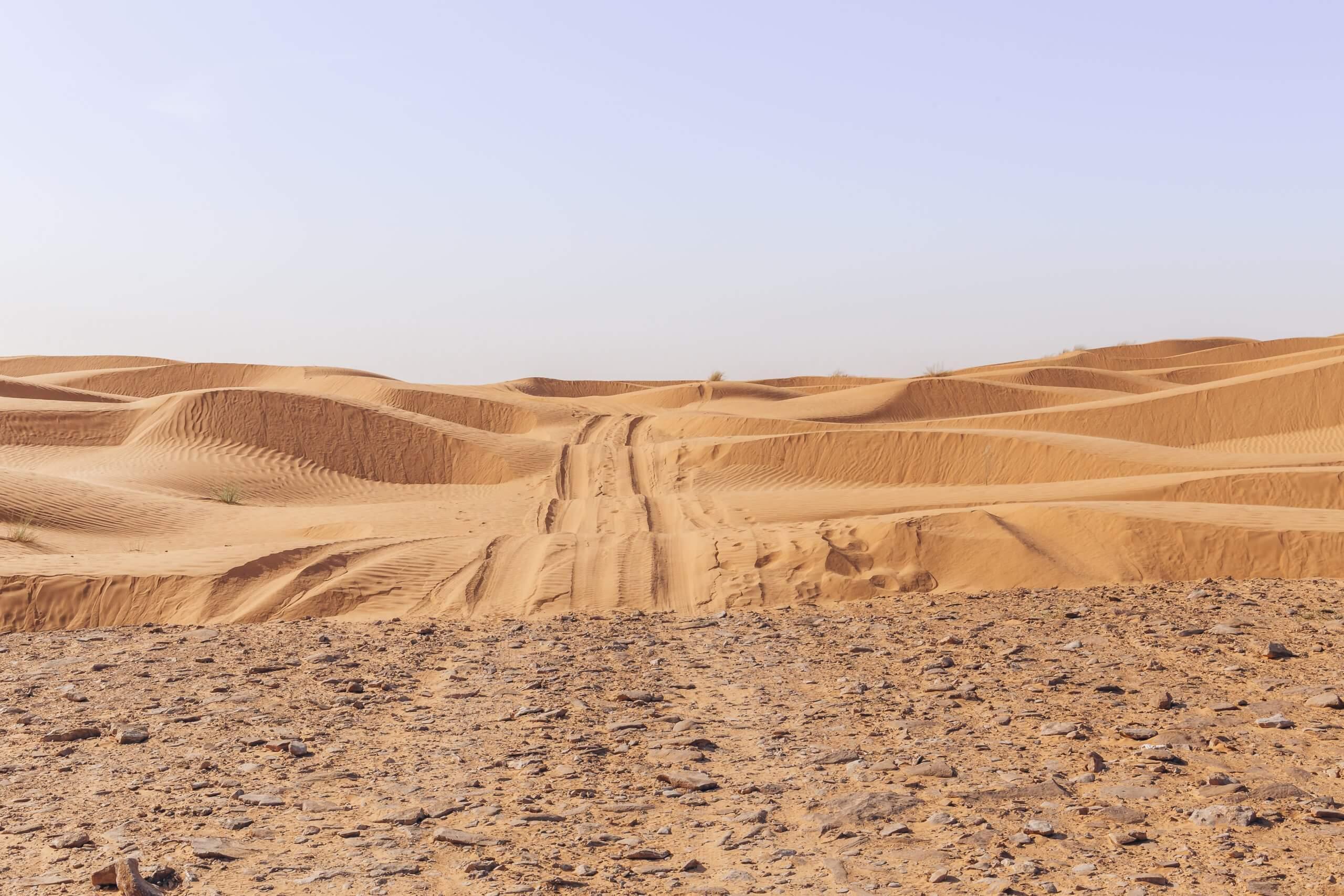 von der Stein- zur Sandwüste