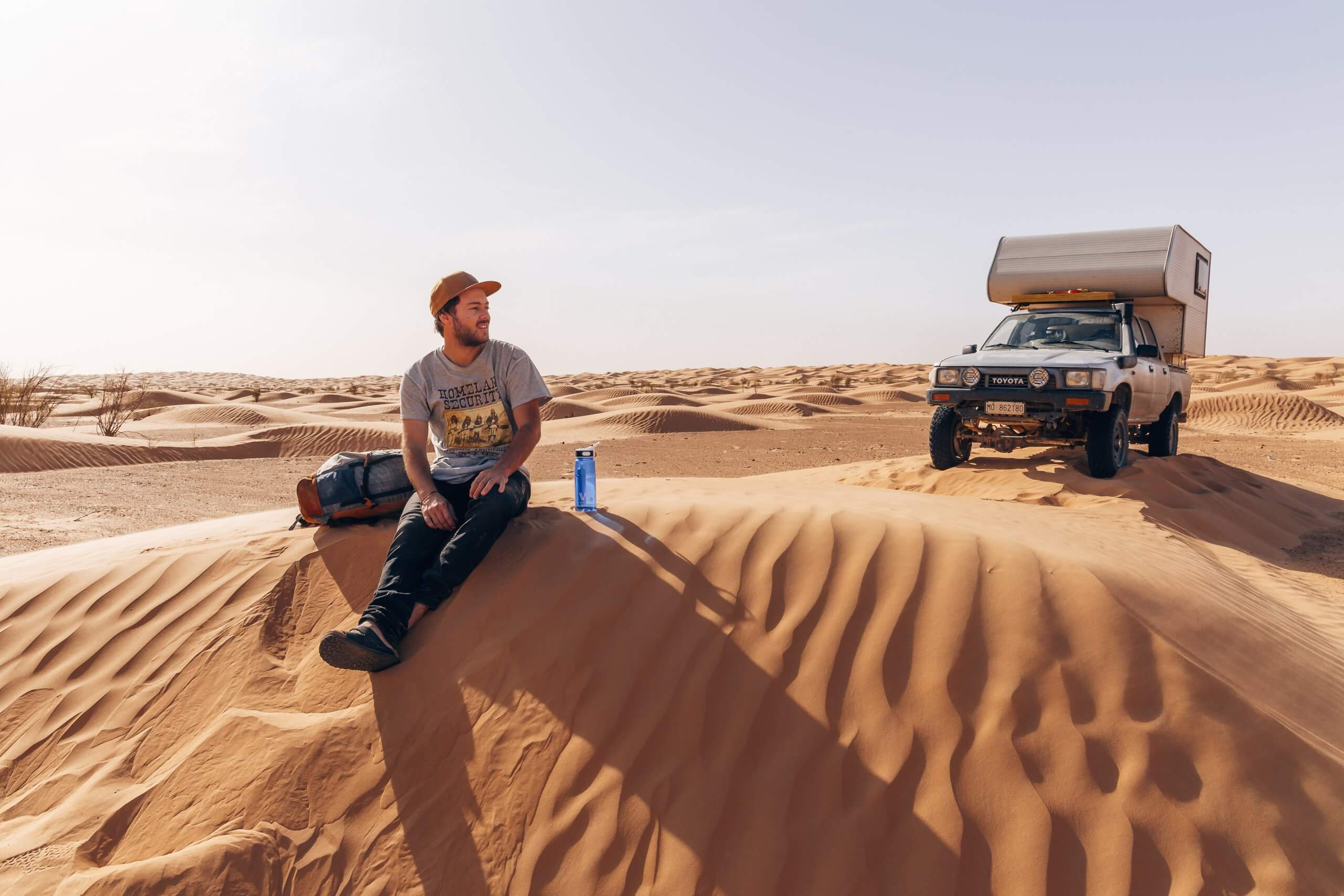 kleine Pause in der Wüste
