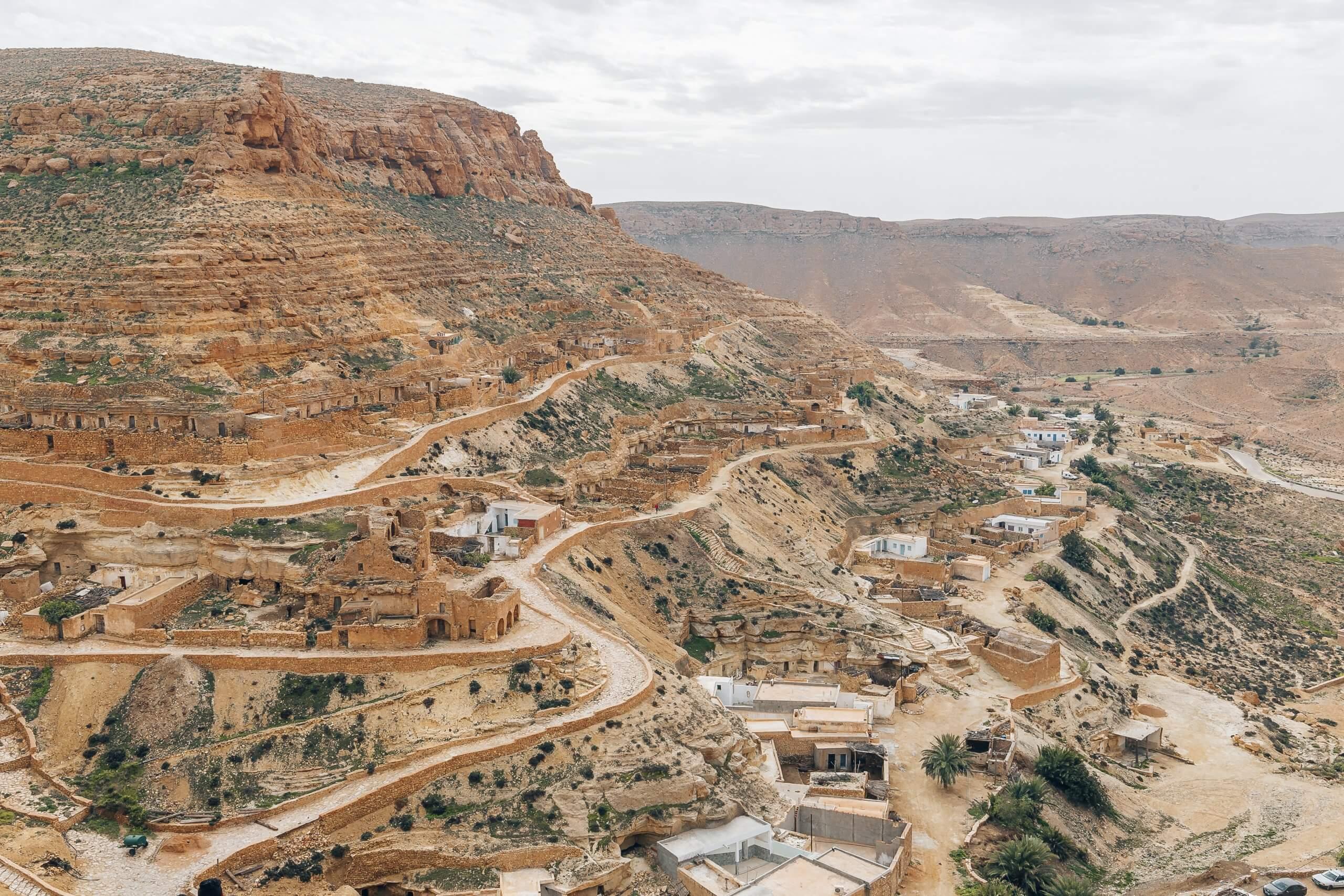 Ausblick über das Dorf