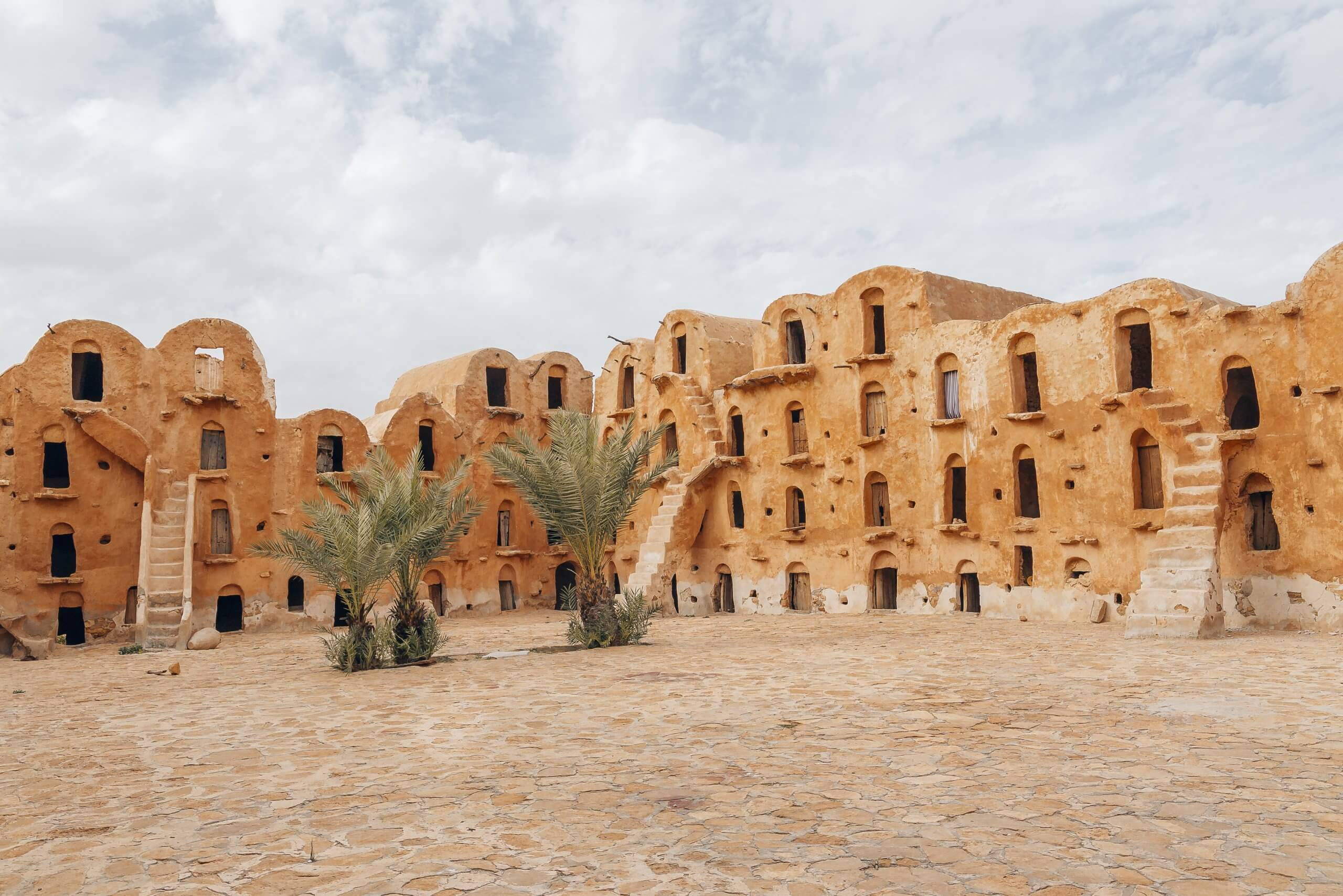 der große Innenhof des Ksar
