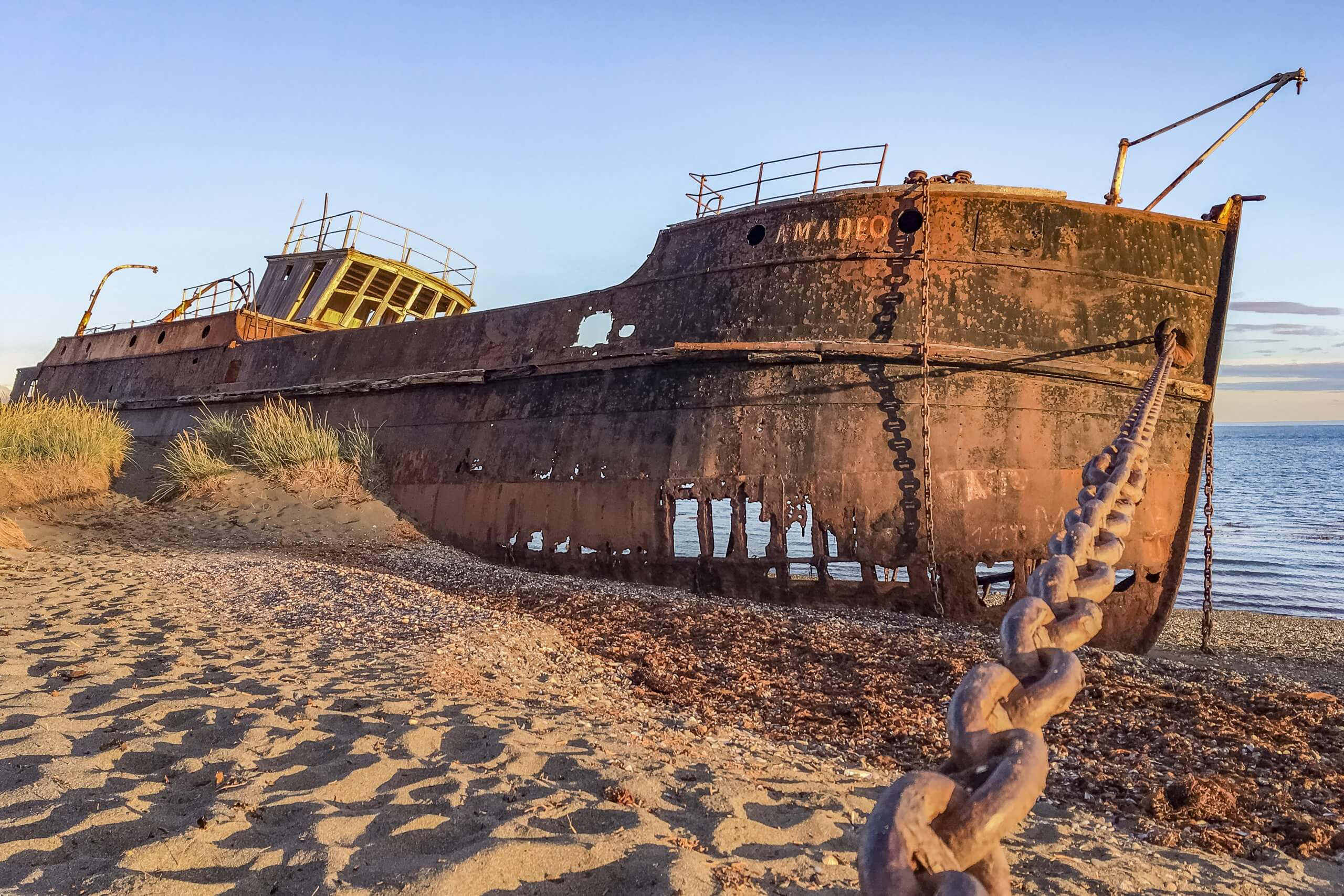Schiffswrack in San Gregorio