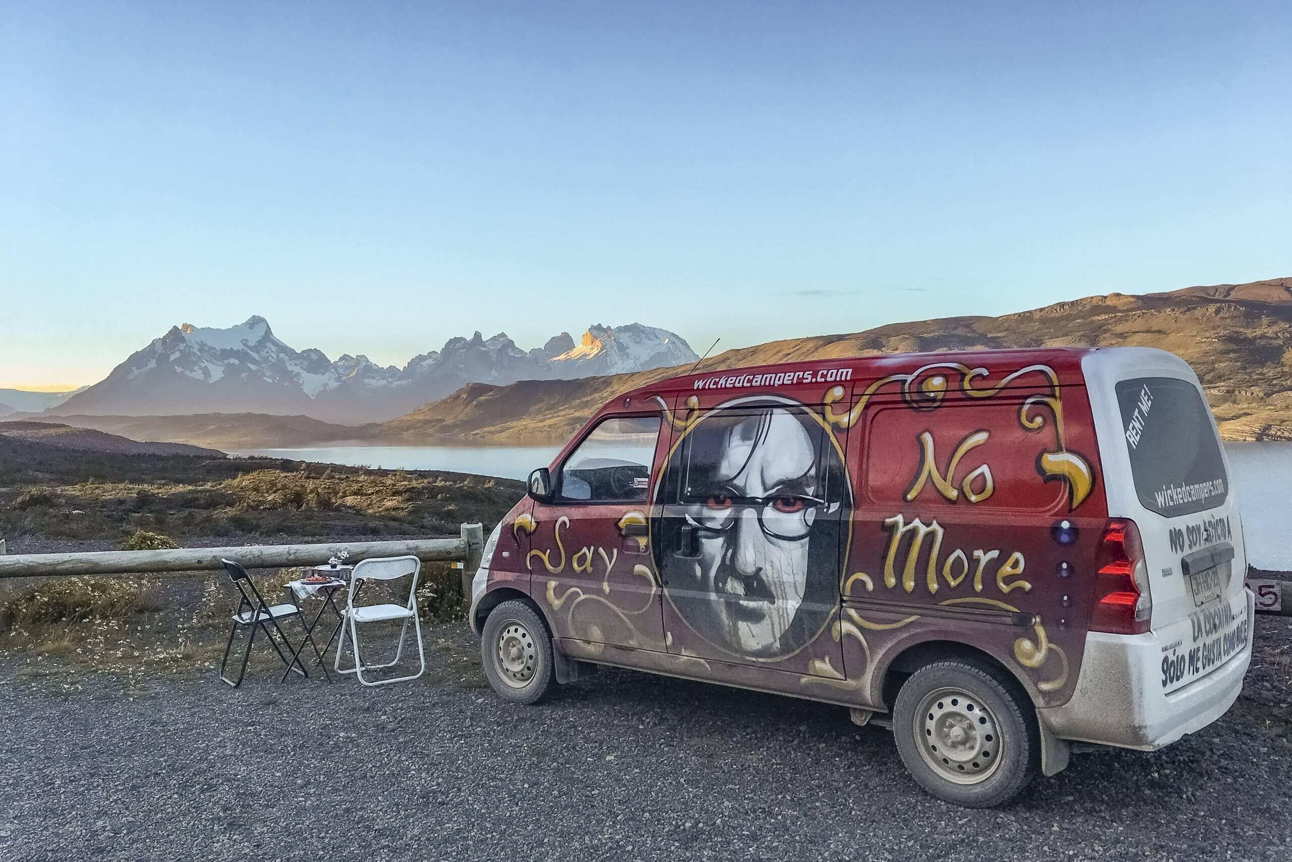 camping vor dem Torres del Paine Nationalpark