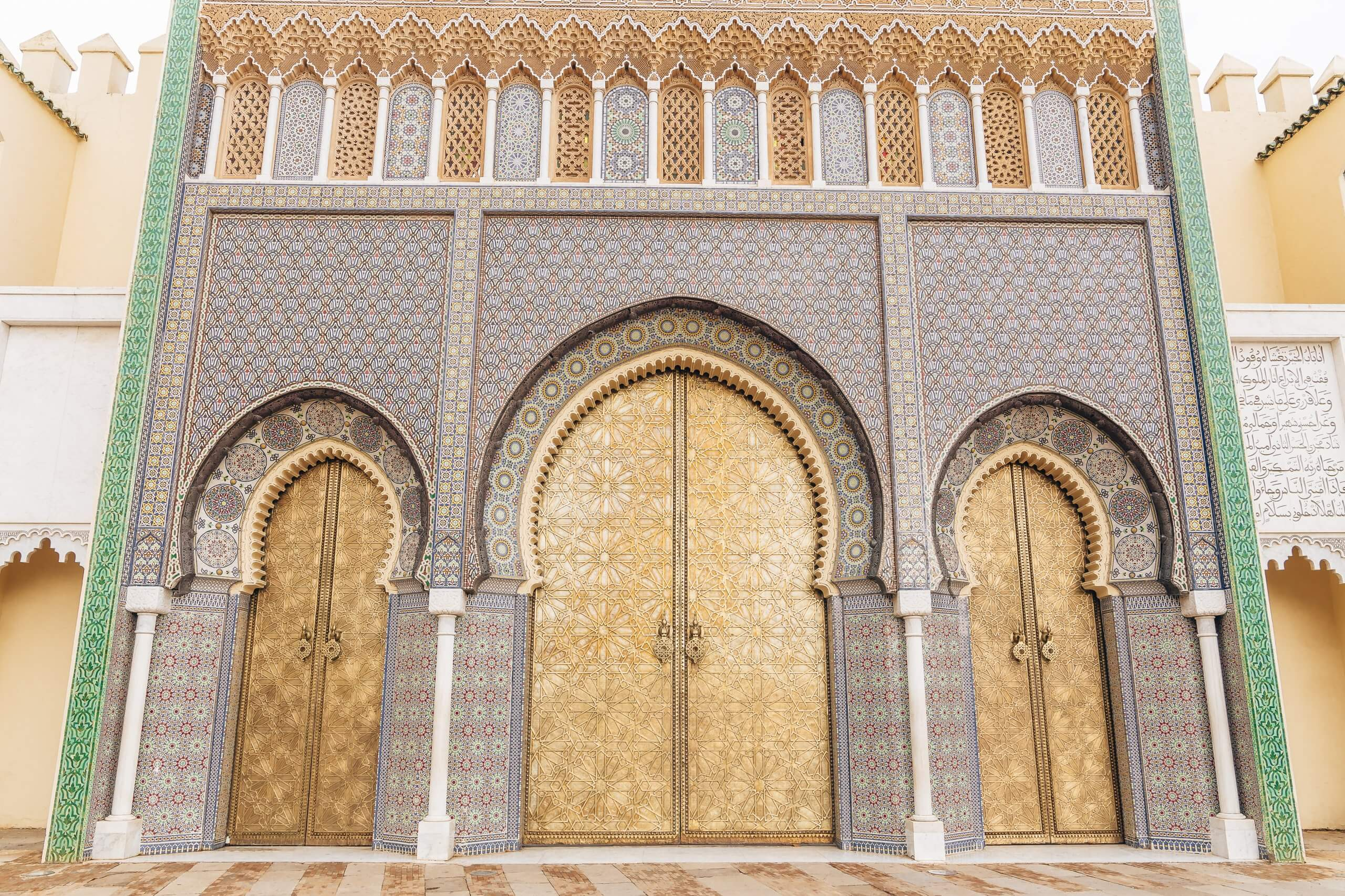 Eingangsportal des Königpalastes