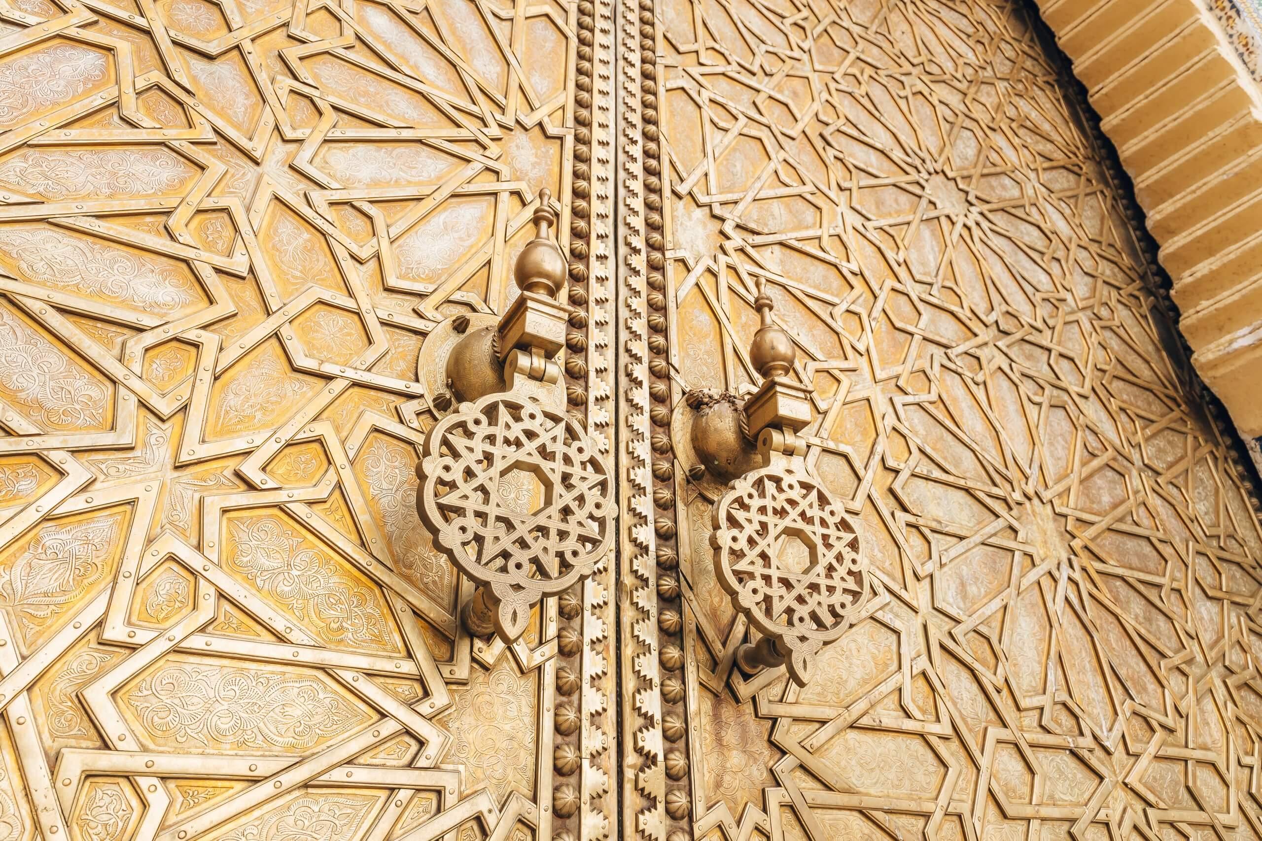 vergoldetes Eingangstor