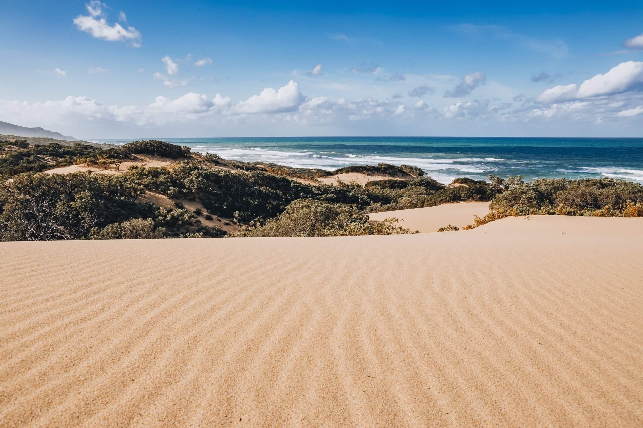 die wunderschöne Spiaggia Piscinas an der Costa Verde
