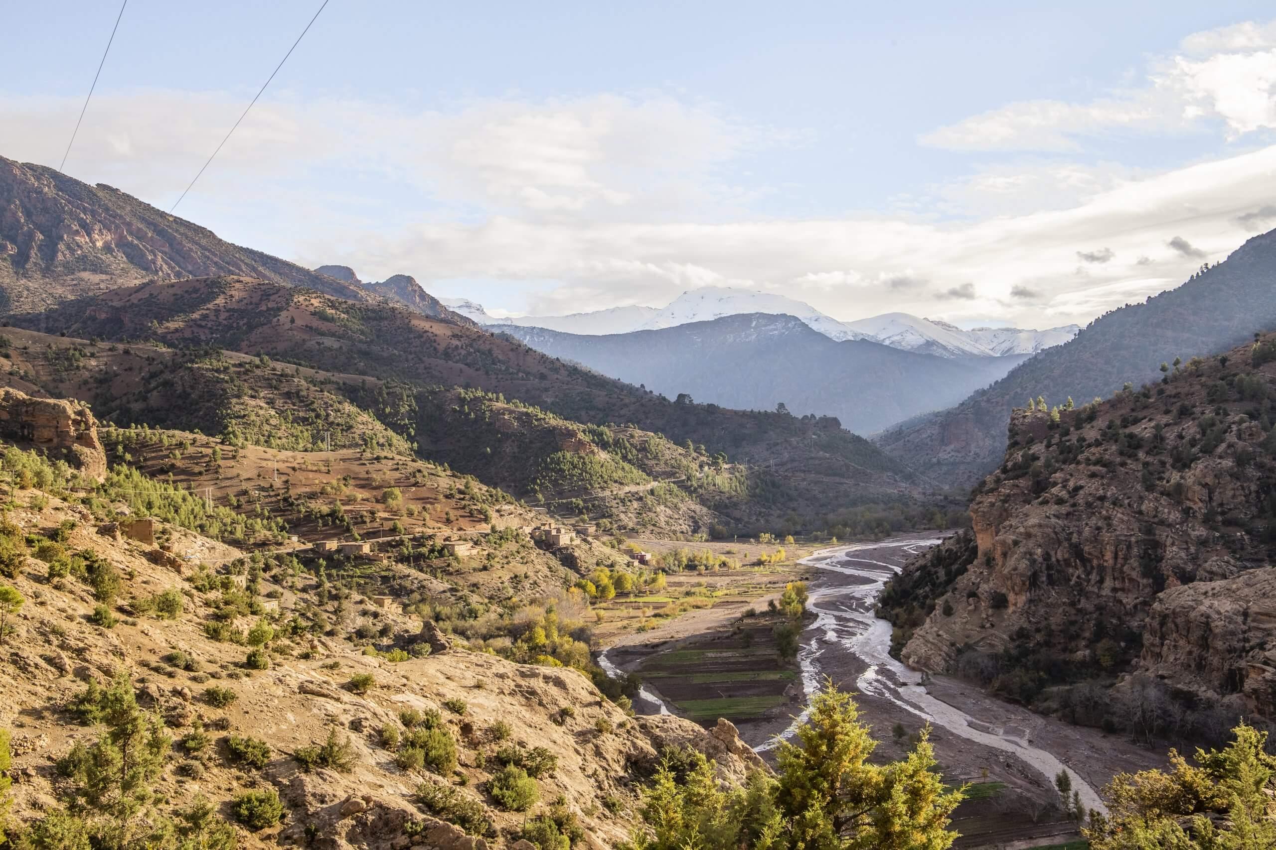 die fruchtbaren Täler des Atlas Gebirges