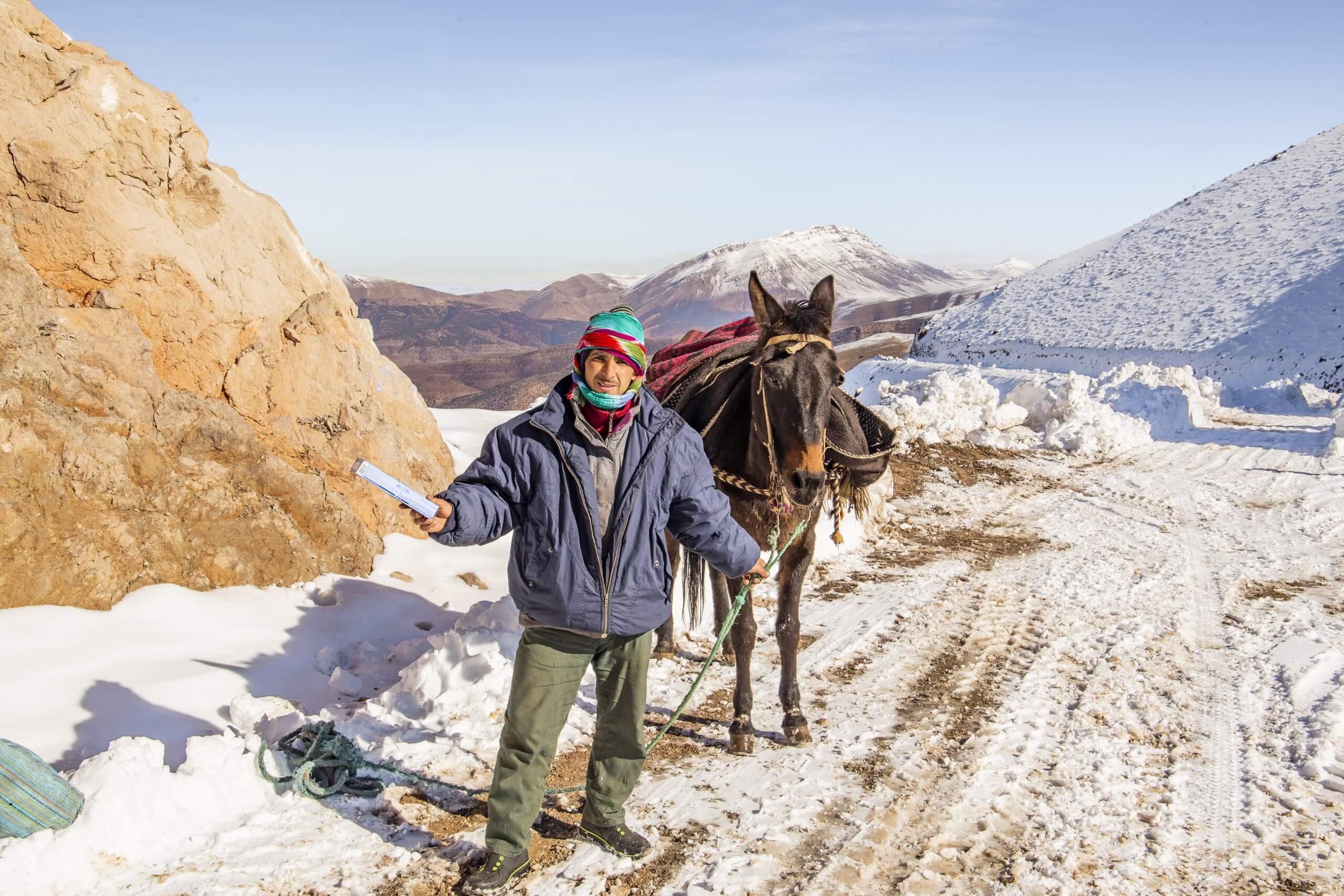 Nomade auf dem Tizi n' Ait Imi Pass