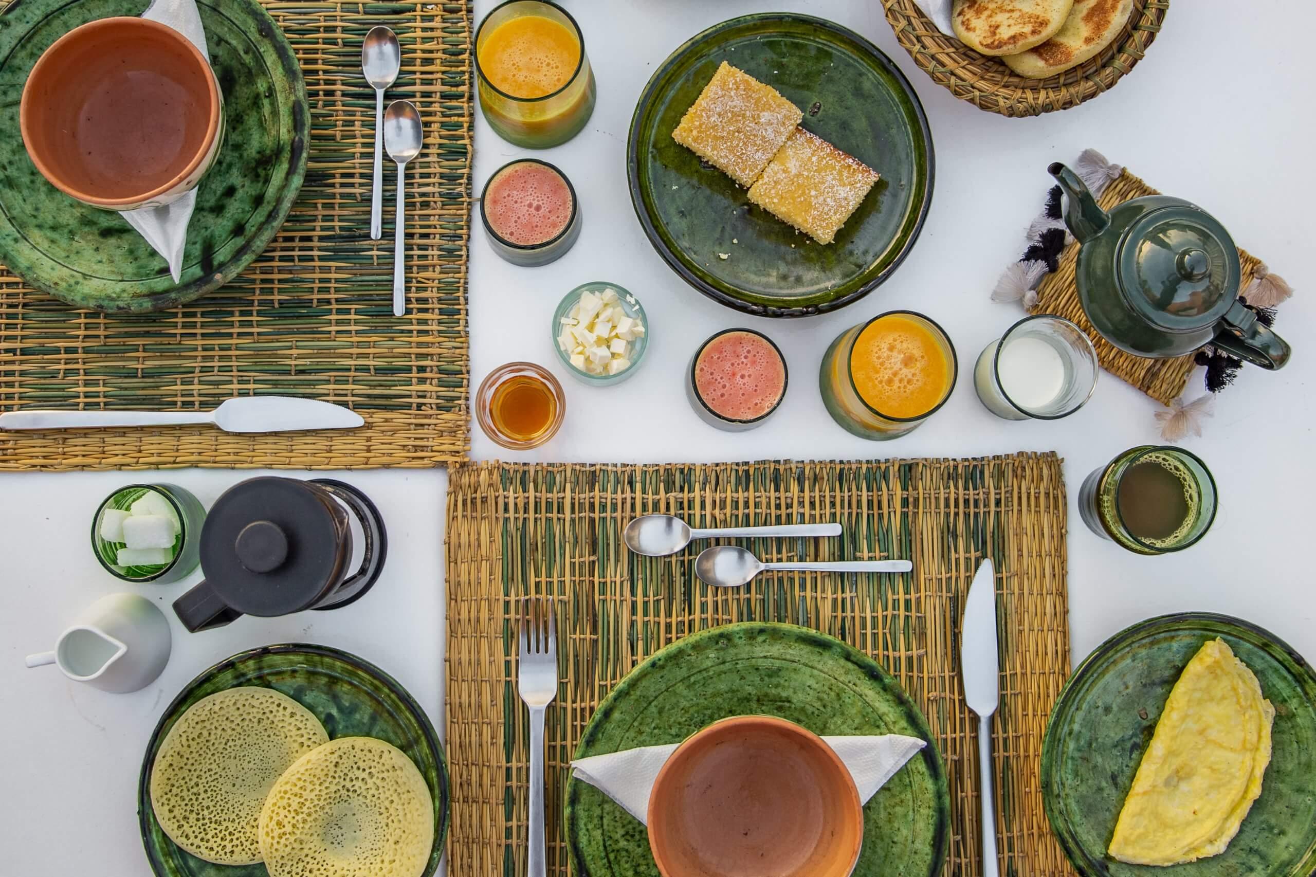 köstliches Frühstück im Riad Bab 54