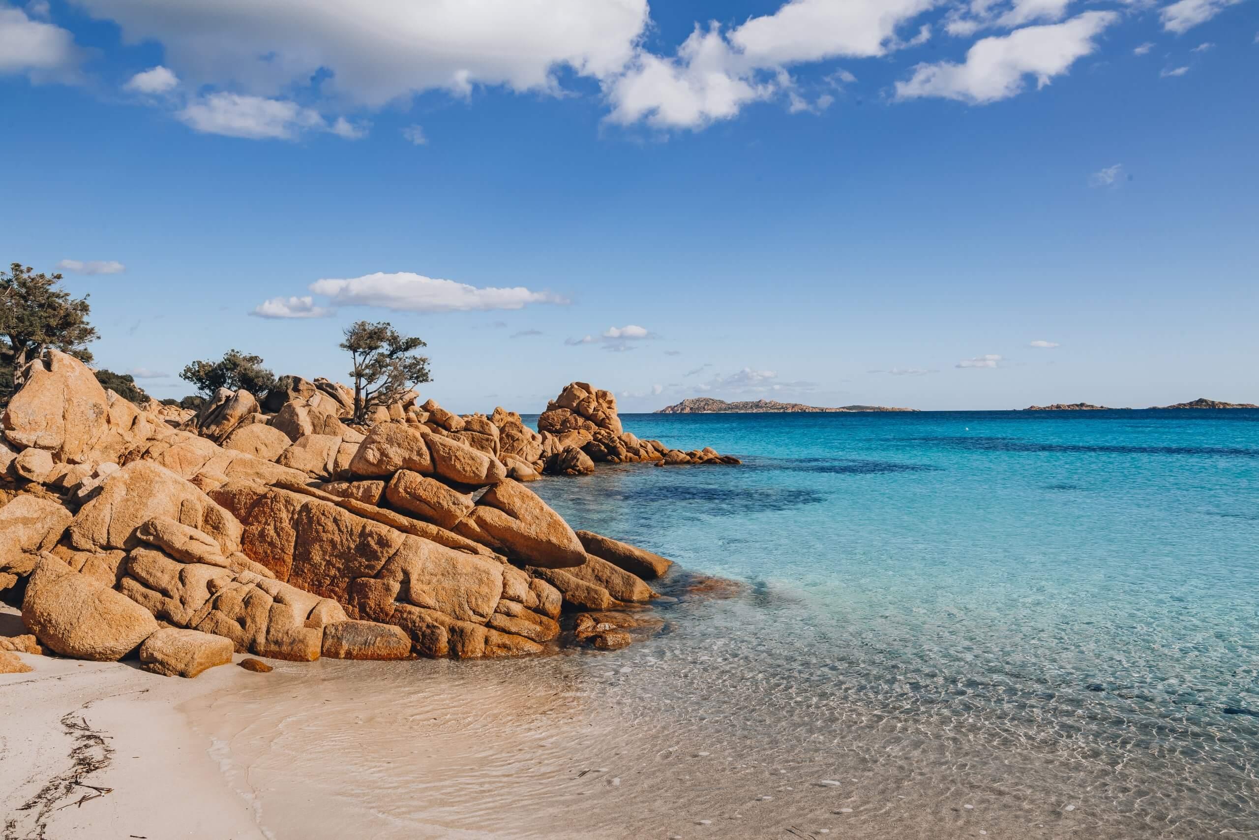an der wunderschönen Spiaggia Capriccioli