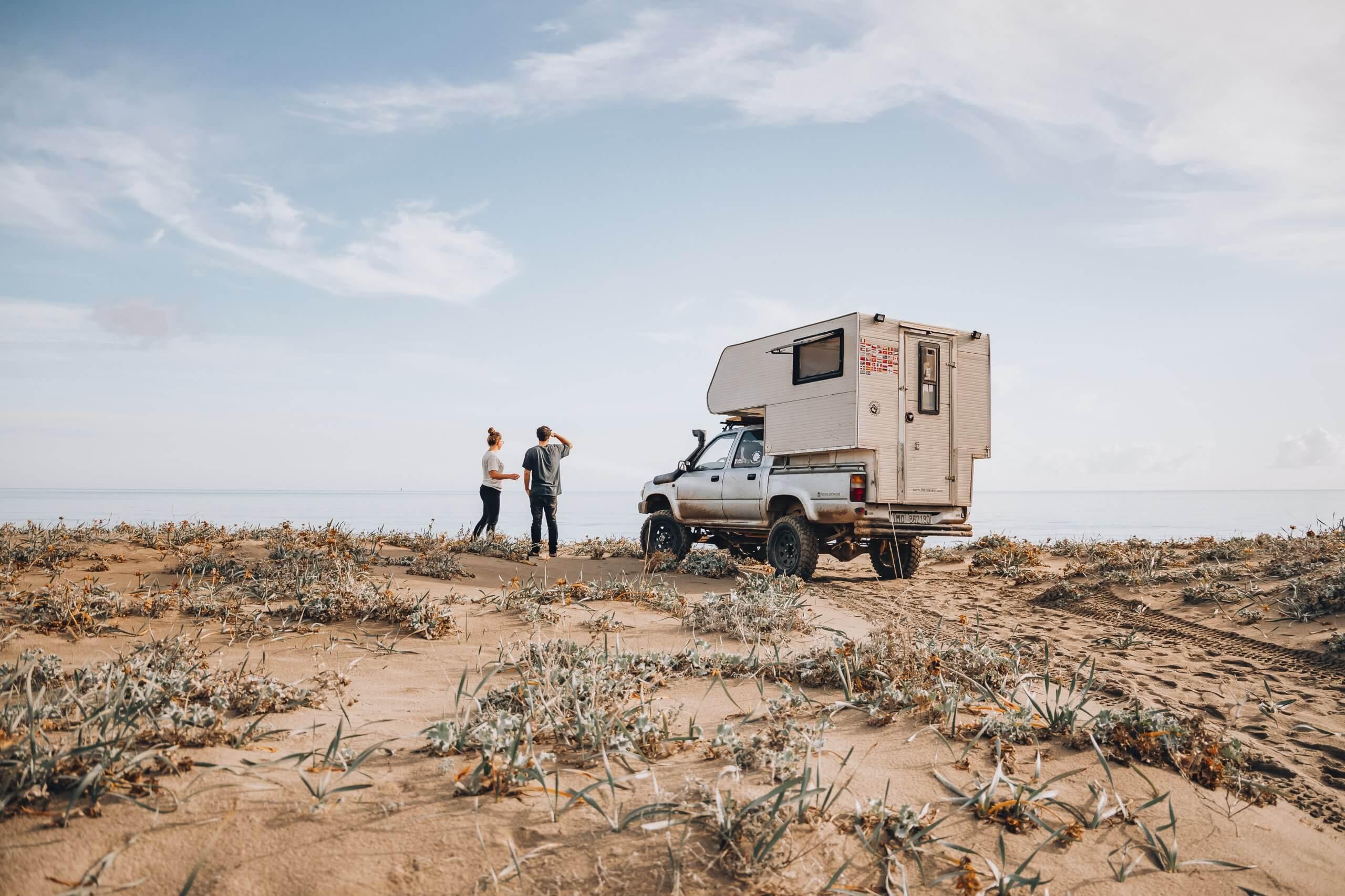 Campspot an einem einsamen Strand auf Sardinien