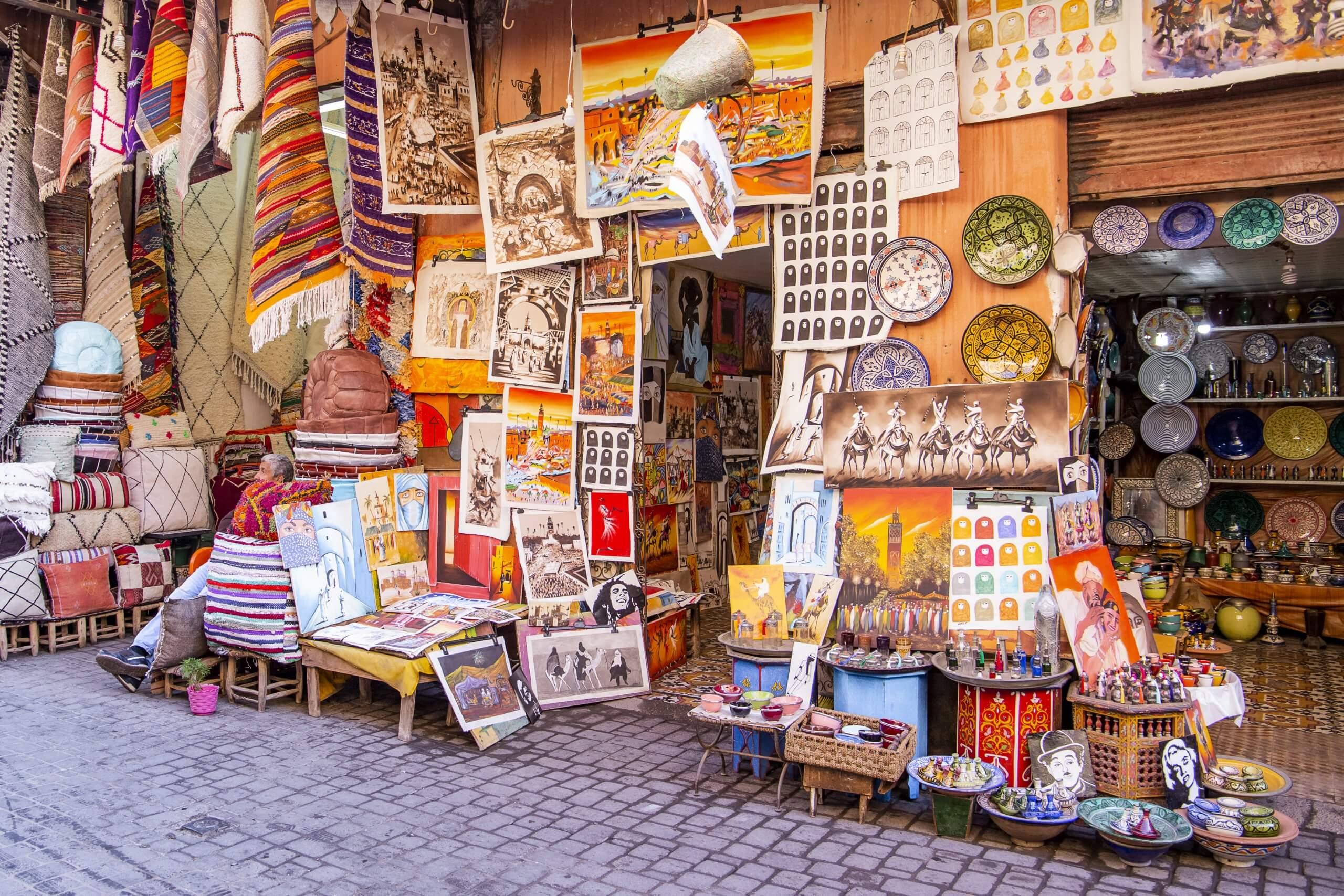 Verkaufsstand in einem marrokanischen Souk