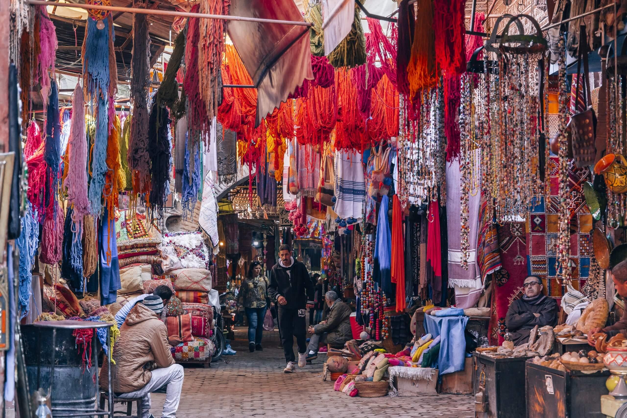 in der trubeligen Medina von Marrakech