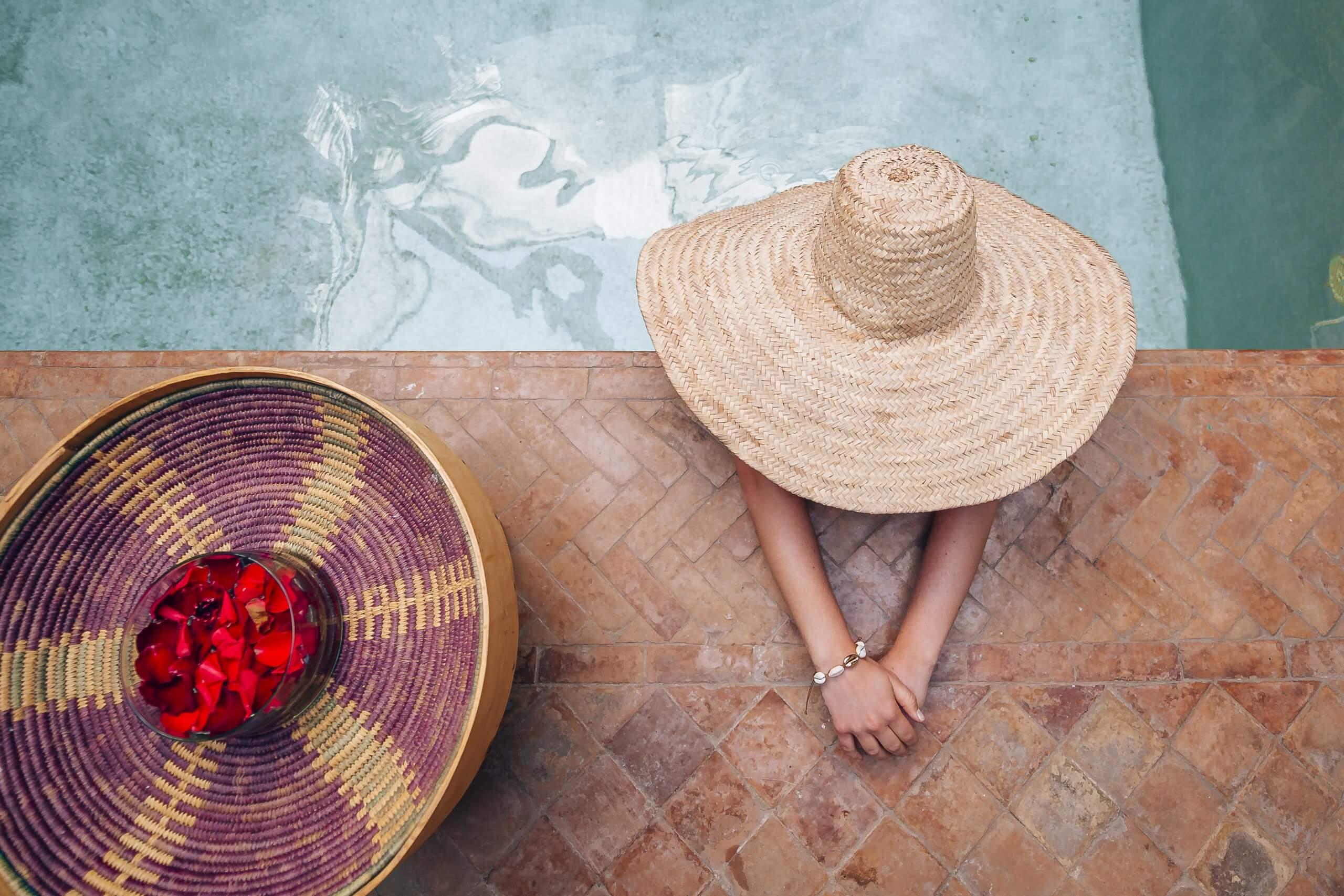 viele Riads verfügen über einen erfrischenden Pool im Innenhof