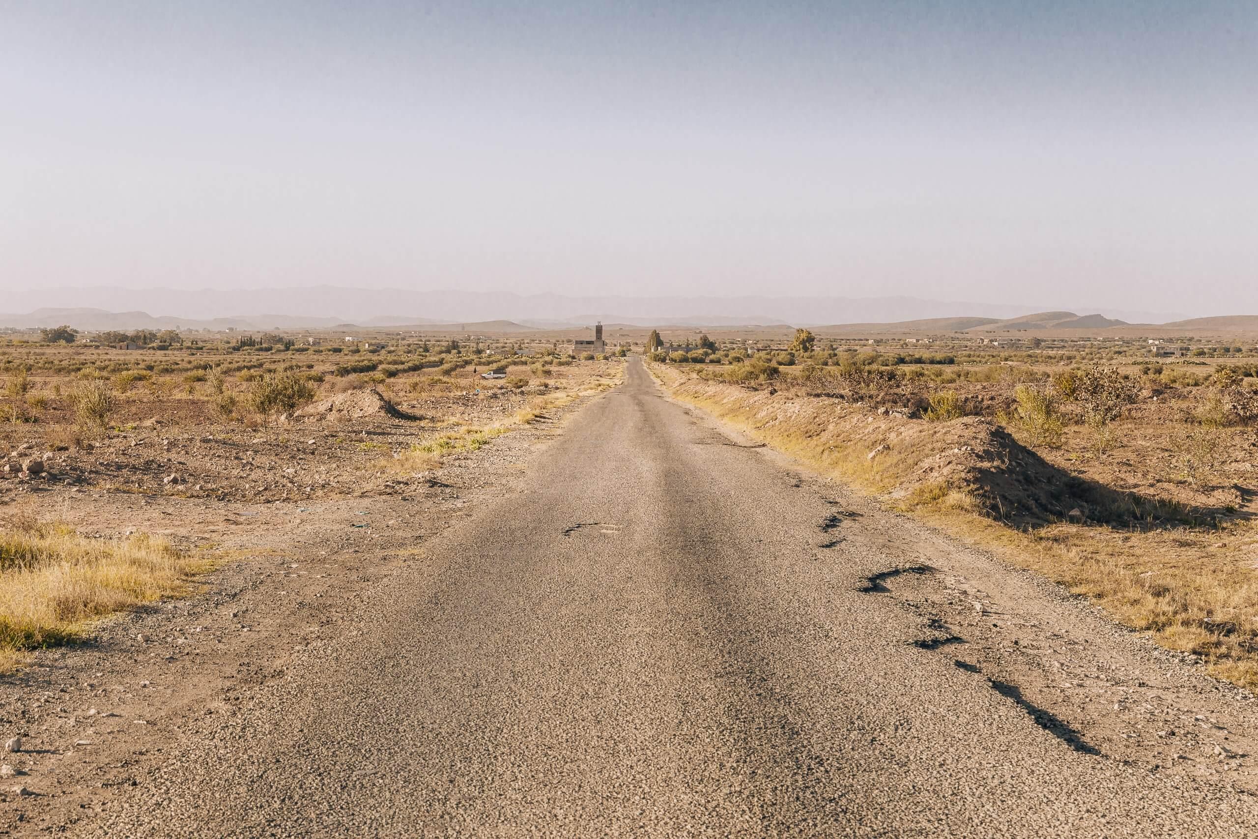 Landstraße in Tunesien