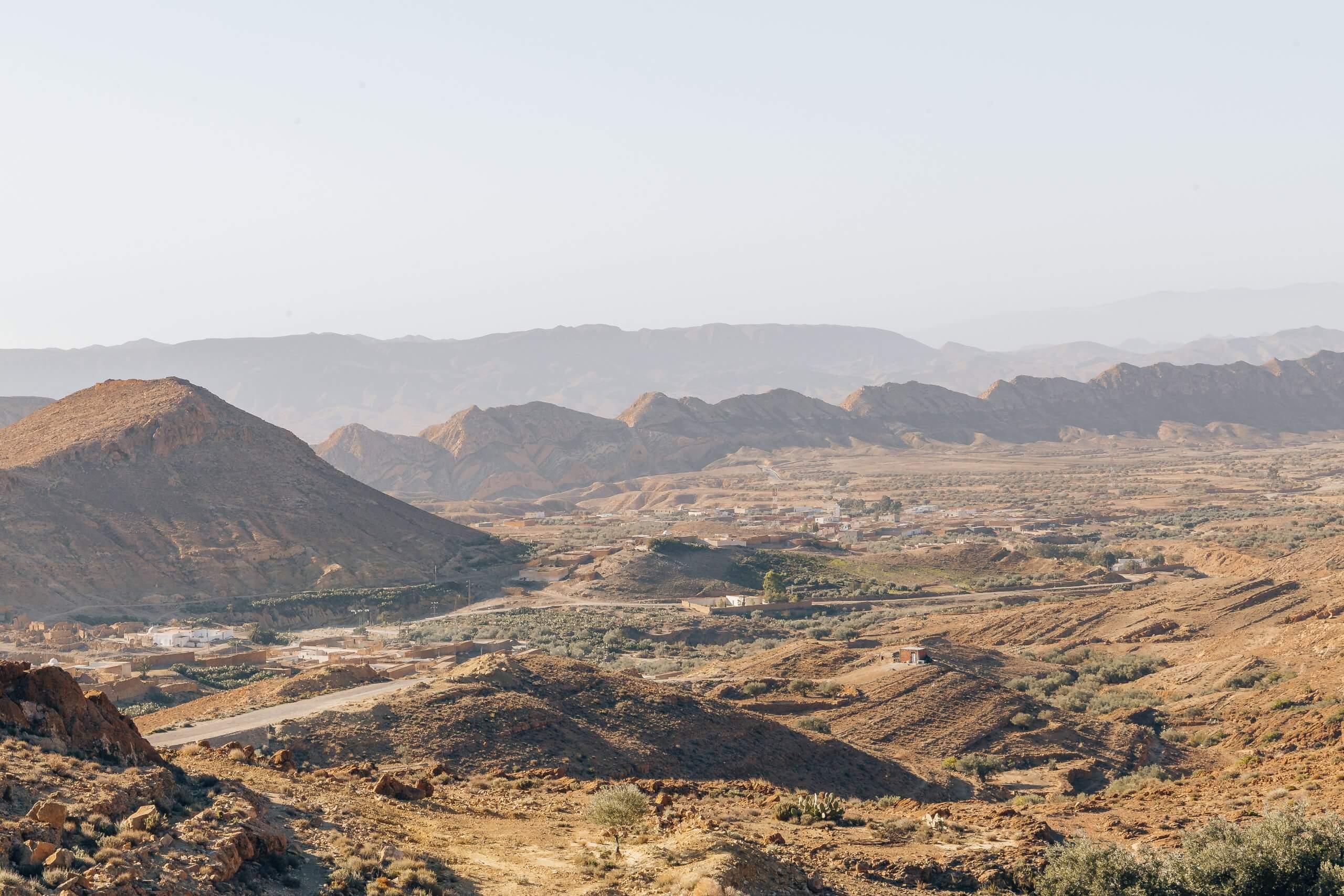 spektakuläre Berglandschaft rund um Sened