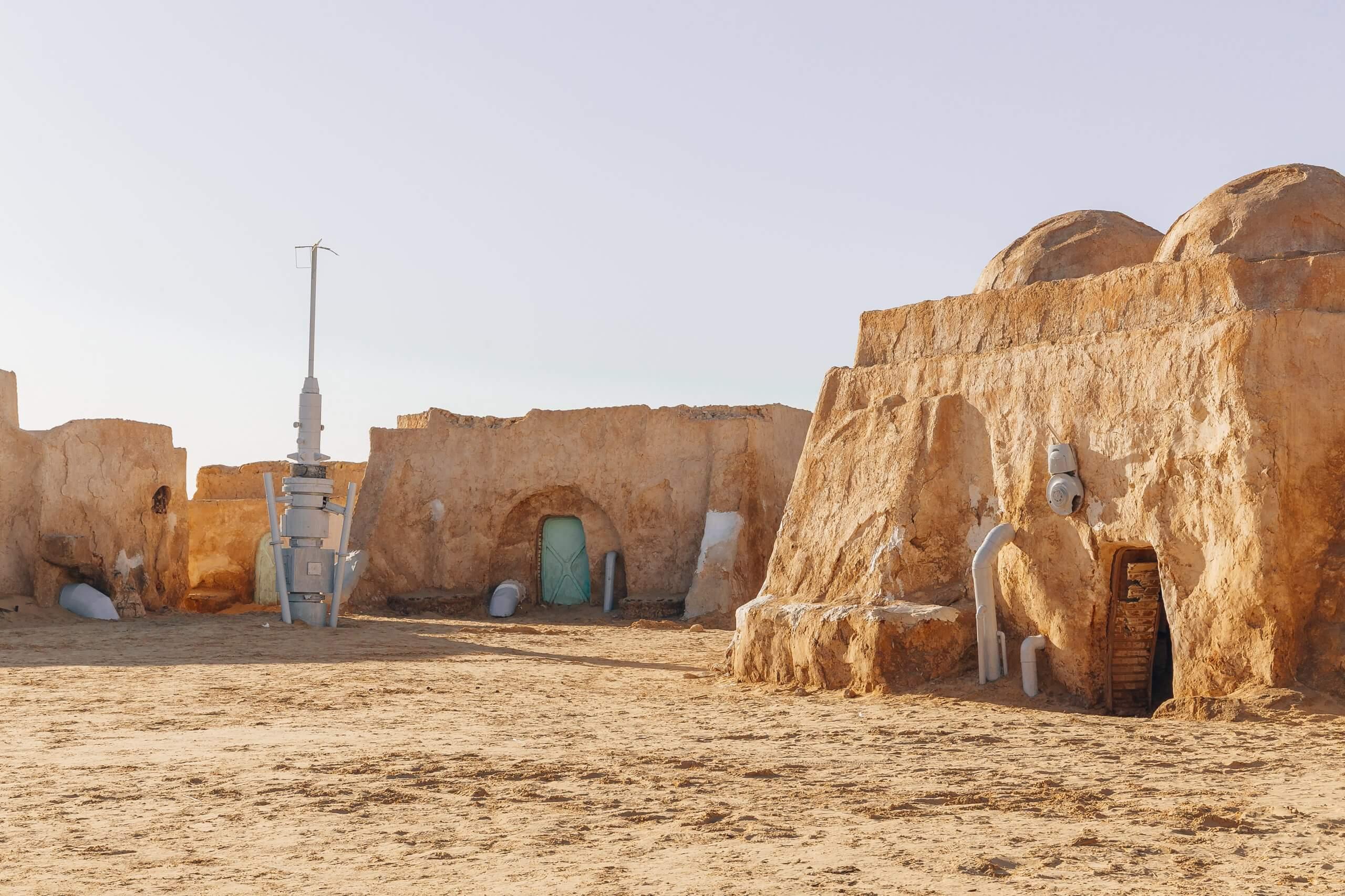 die Stadt Mos Espa aus Star Wars