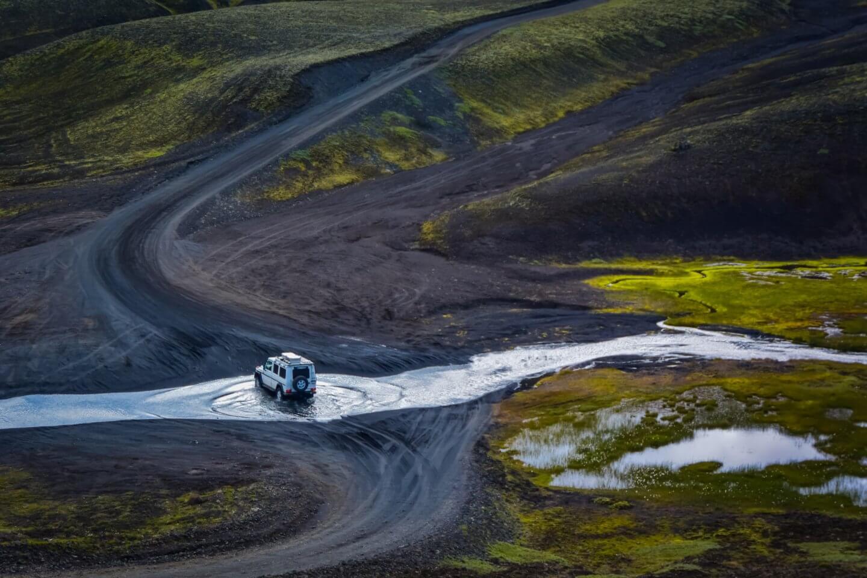 Mit Familie und Offroad-Caravan unterwegs in Island