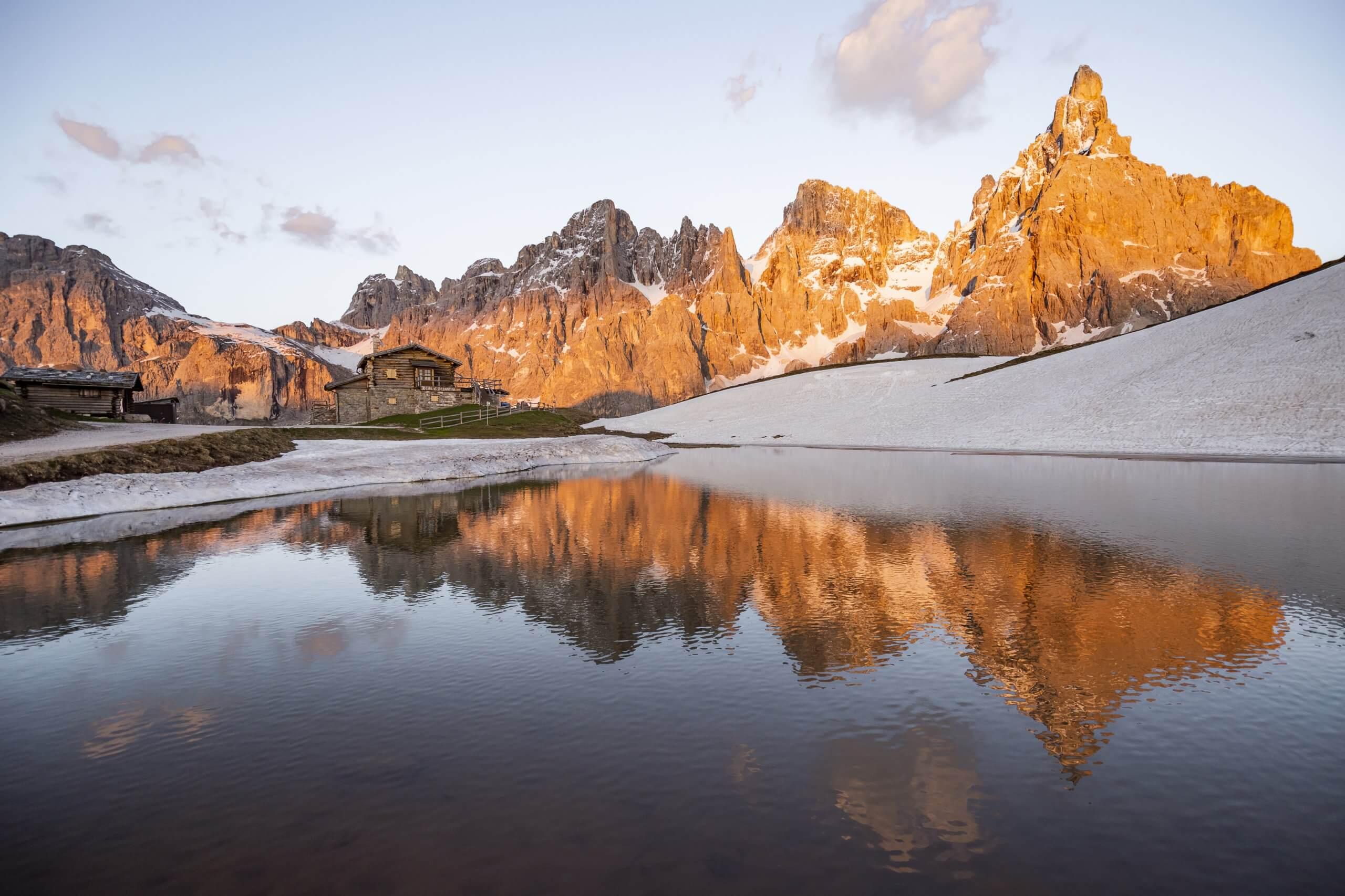 die schönste Almhütte im Trentino: Baita Segantini