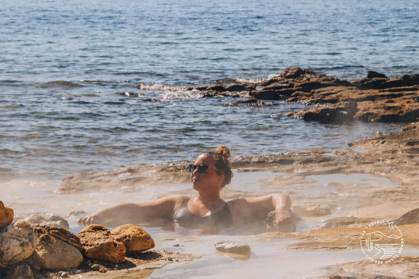 bathing in the hot pools of Loutra Edipsou