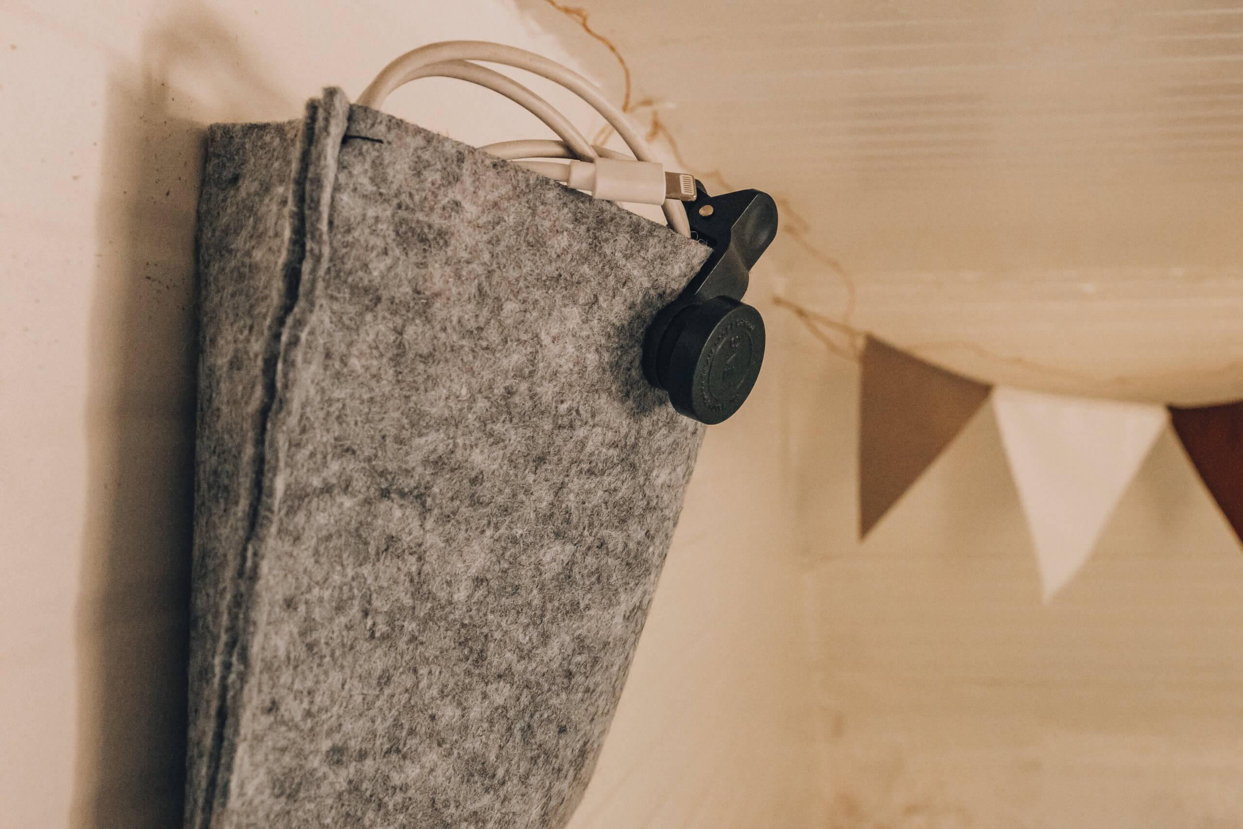 Filztaschen zum Aufbewahren von kleinen Gegeständen