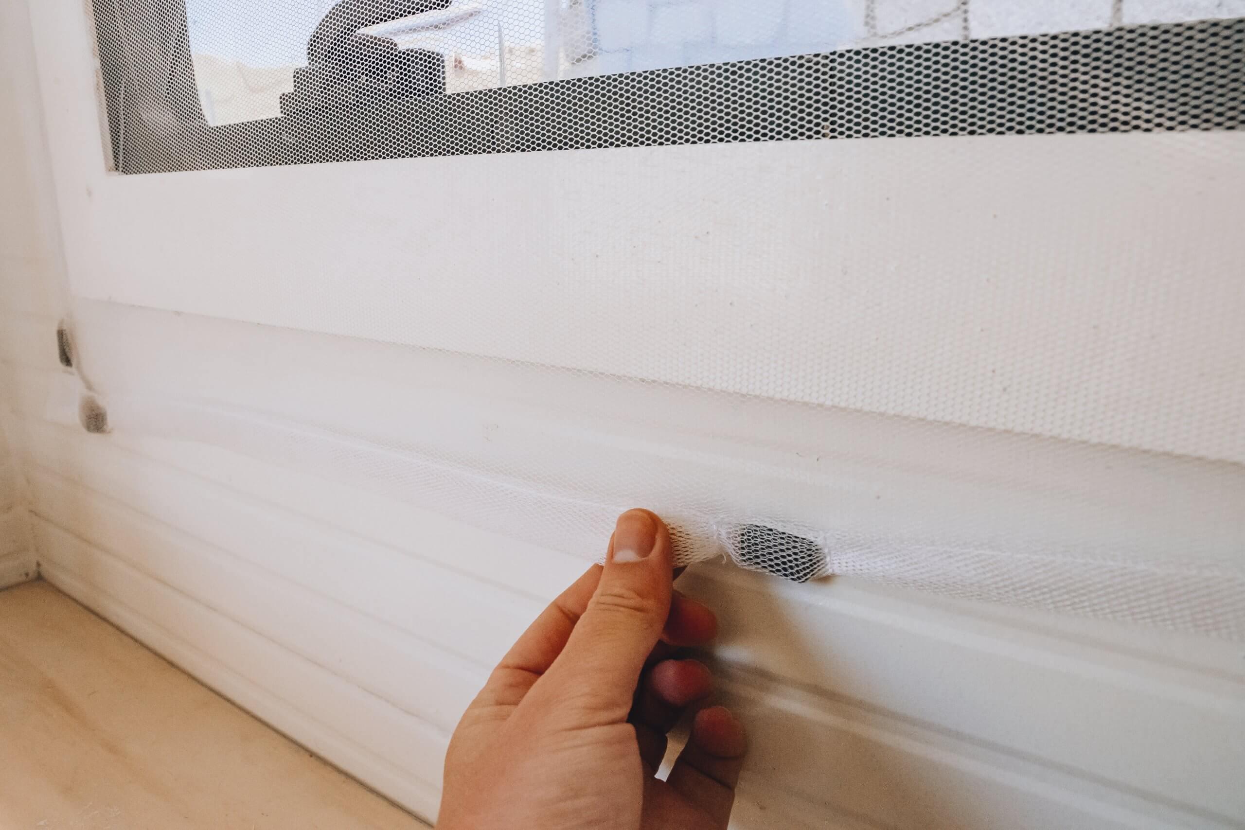 selbstgemachte Moskitonetze mit Magnete
