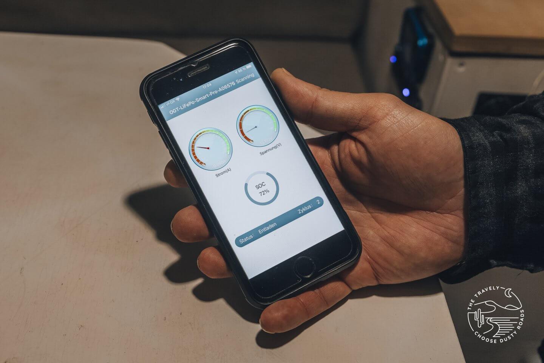 die OffGridTec Akkuviewer Smart App
