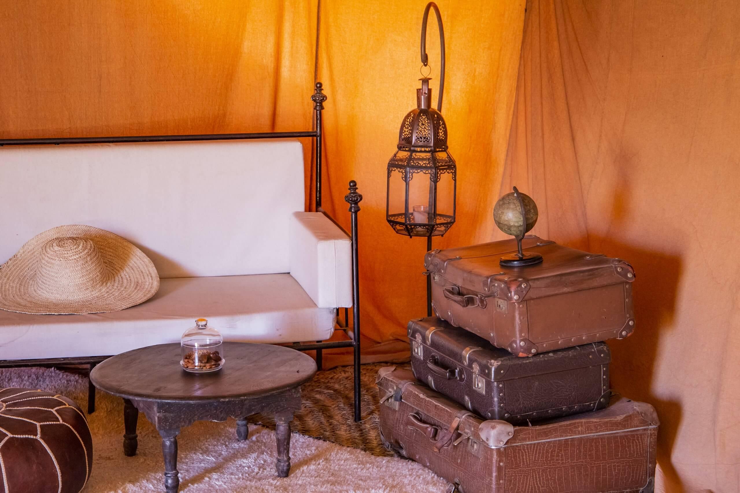 Einrichtung im Scarabeo Camp
