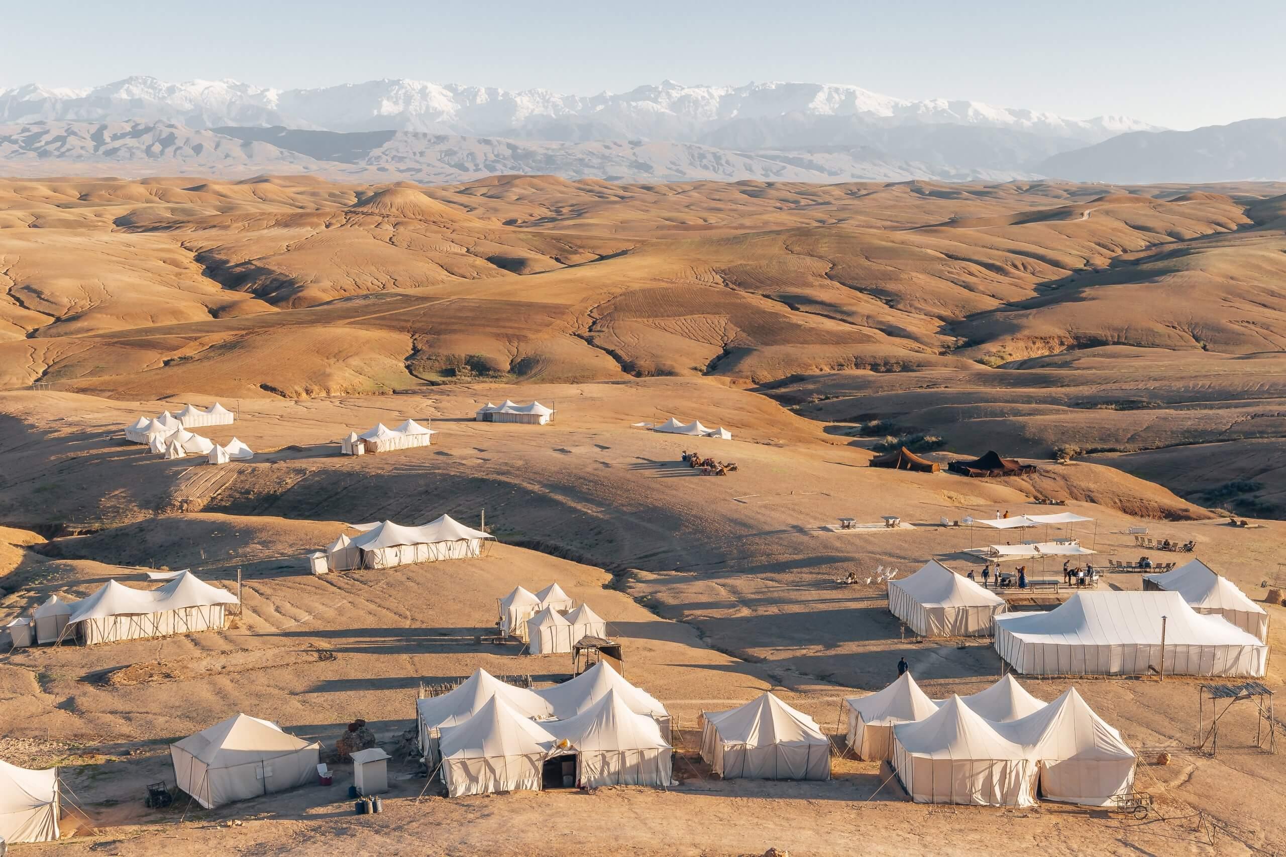 Camps in der Agafay Wüste