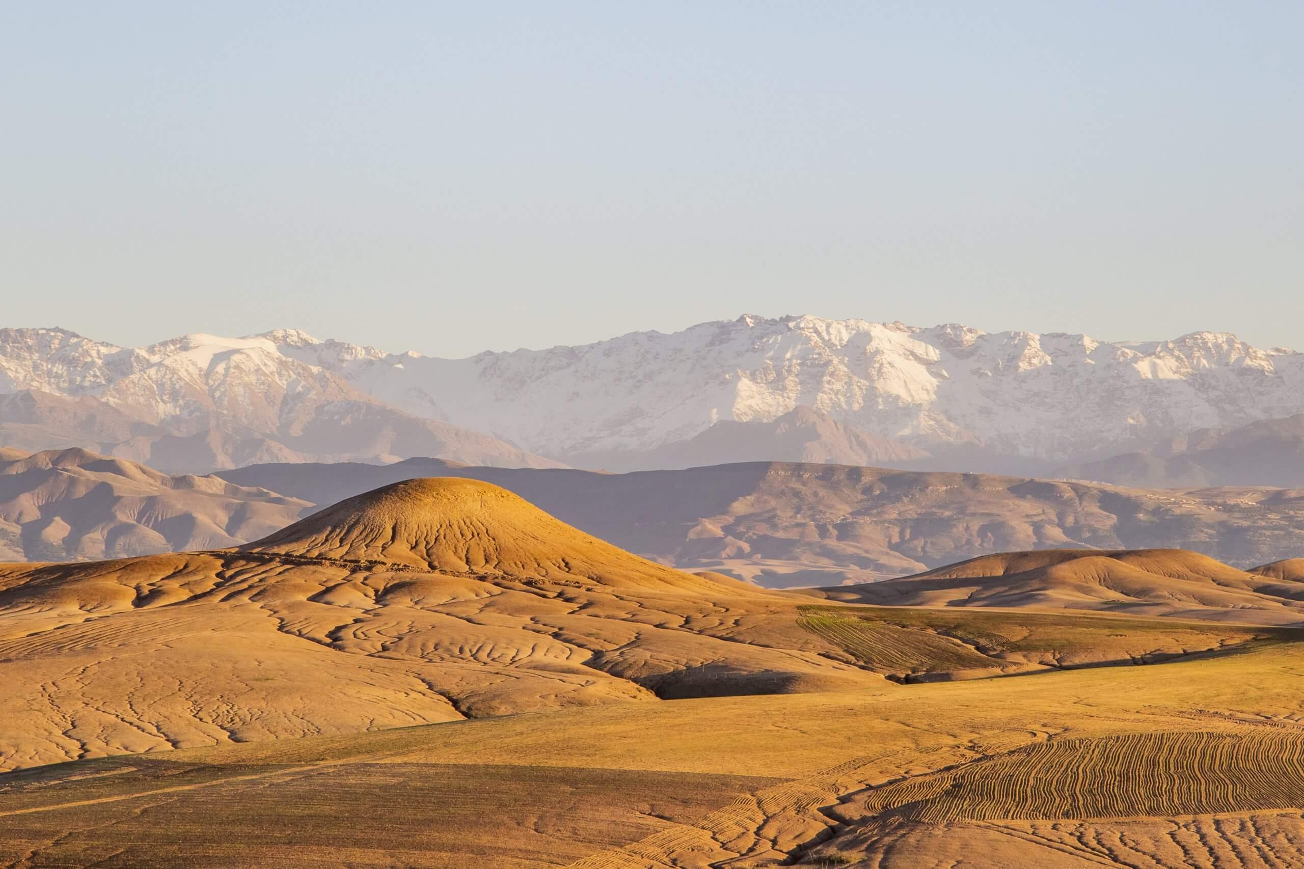von der Wüste in die Berge