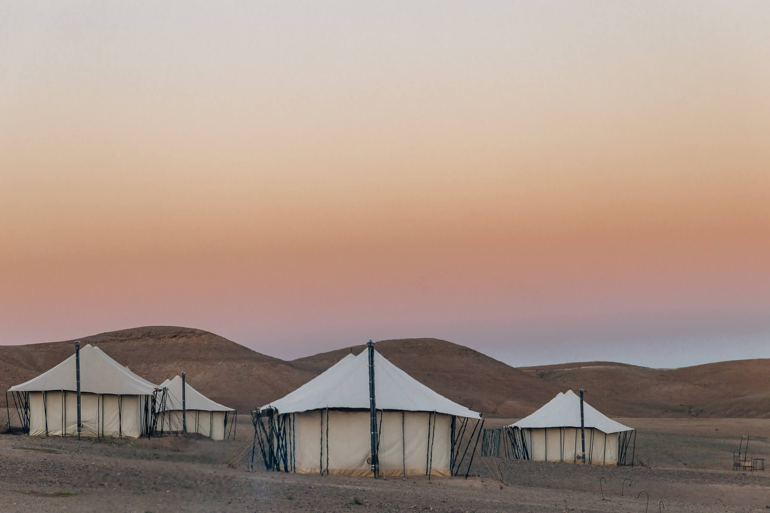 Luxuriöse Zelte im Scarabeo Camp