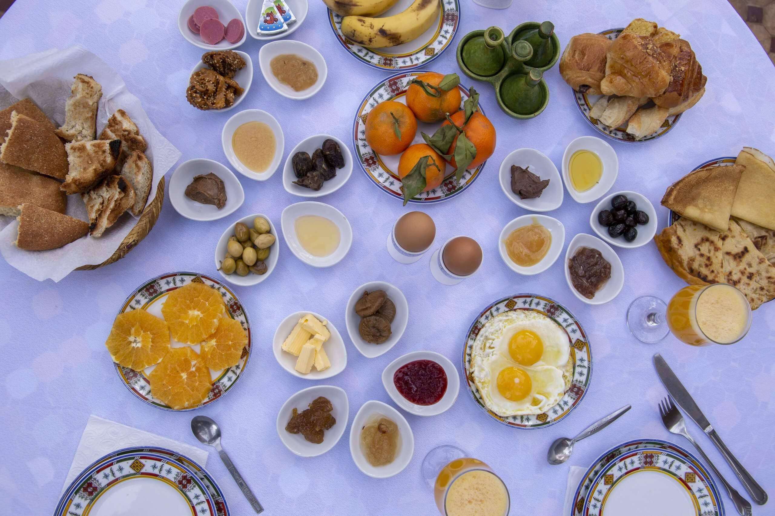 Frühstück im Riad Dar Sofian