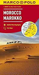 Marokko Straßenkarte