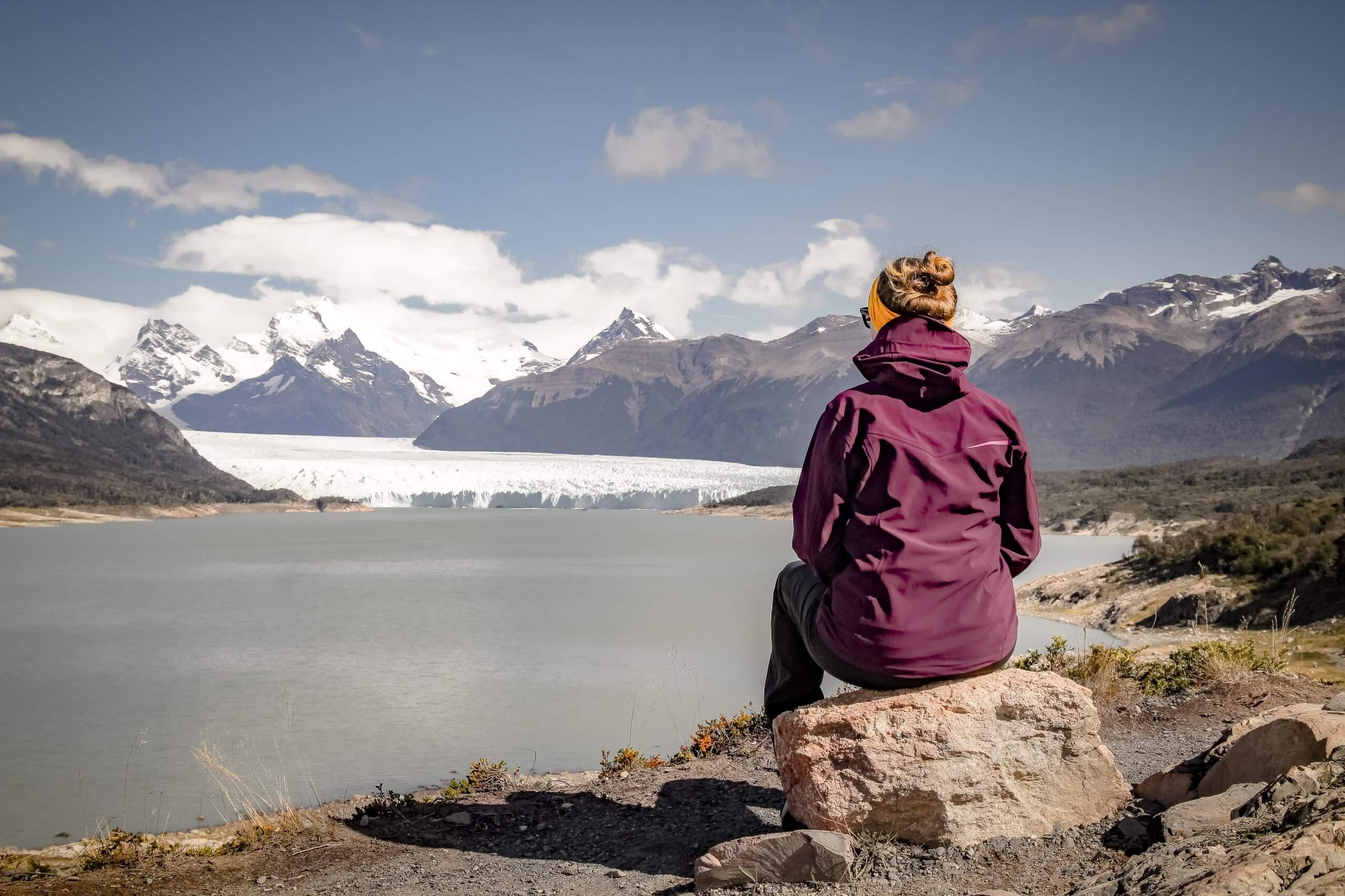Aussichtspunkt an der Zufahrtsstraße zum Gletscher