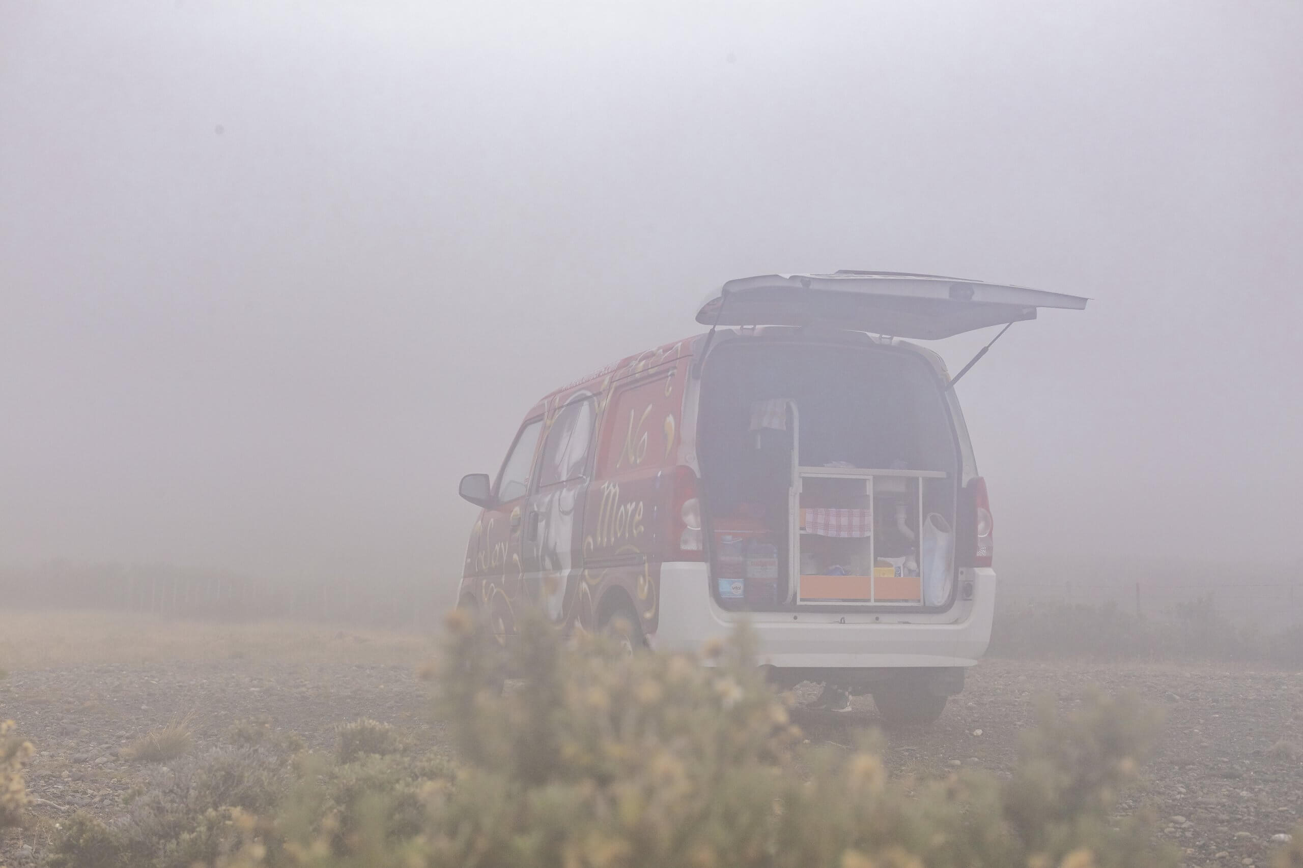 Wind, Regen, Nebel - in Patagonien ist das Wetter unberechenbar