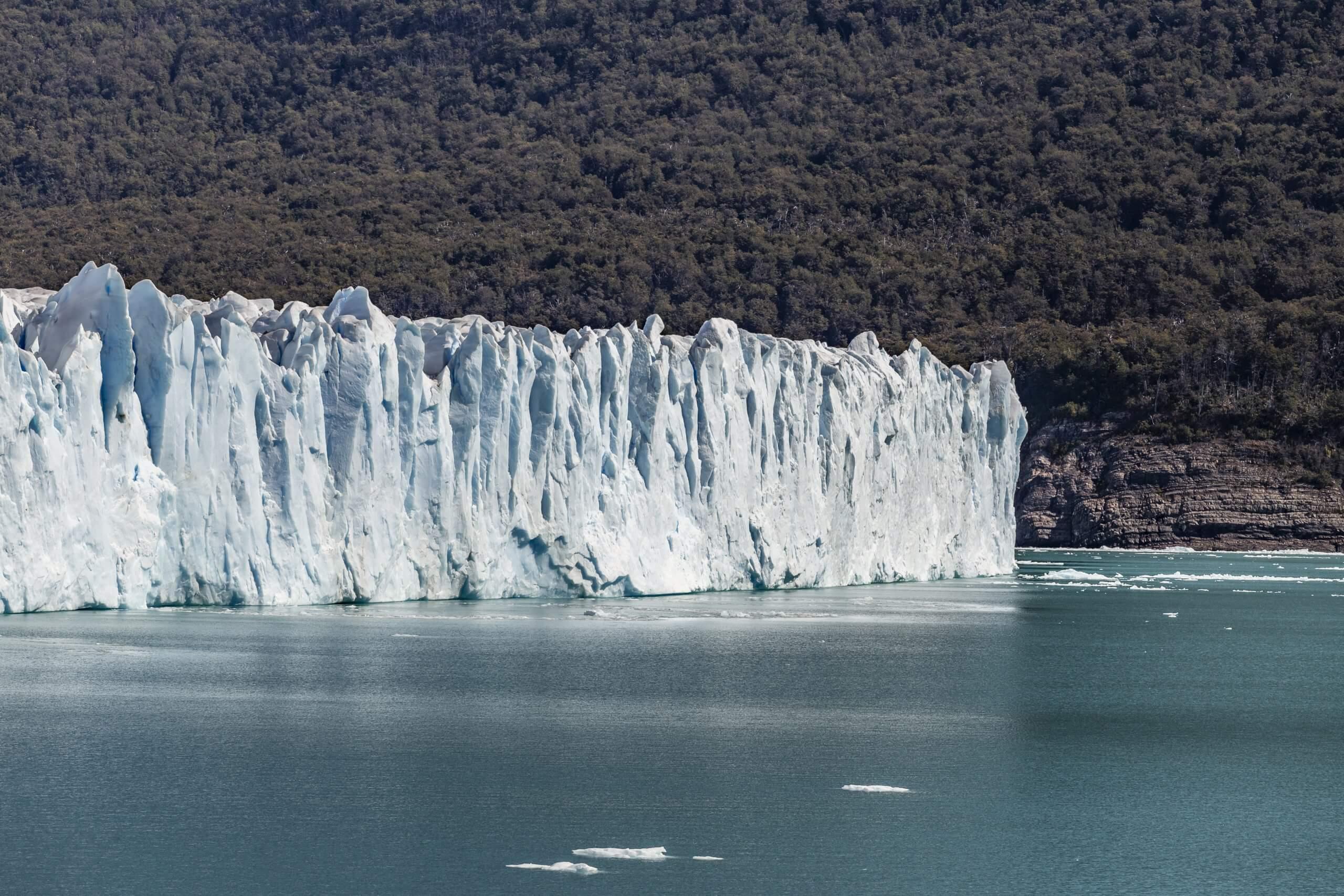 die Bruchstelle des Gletschers