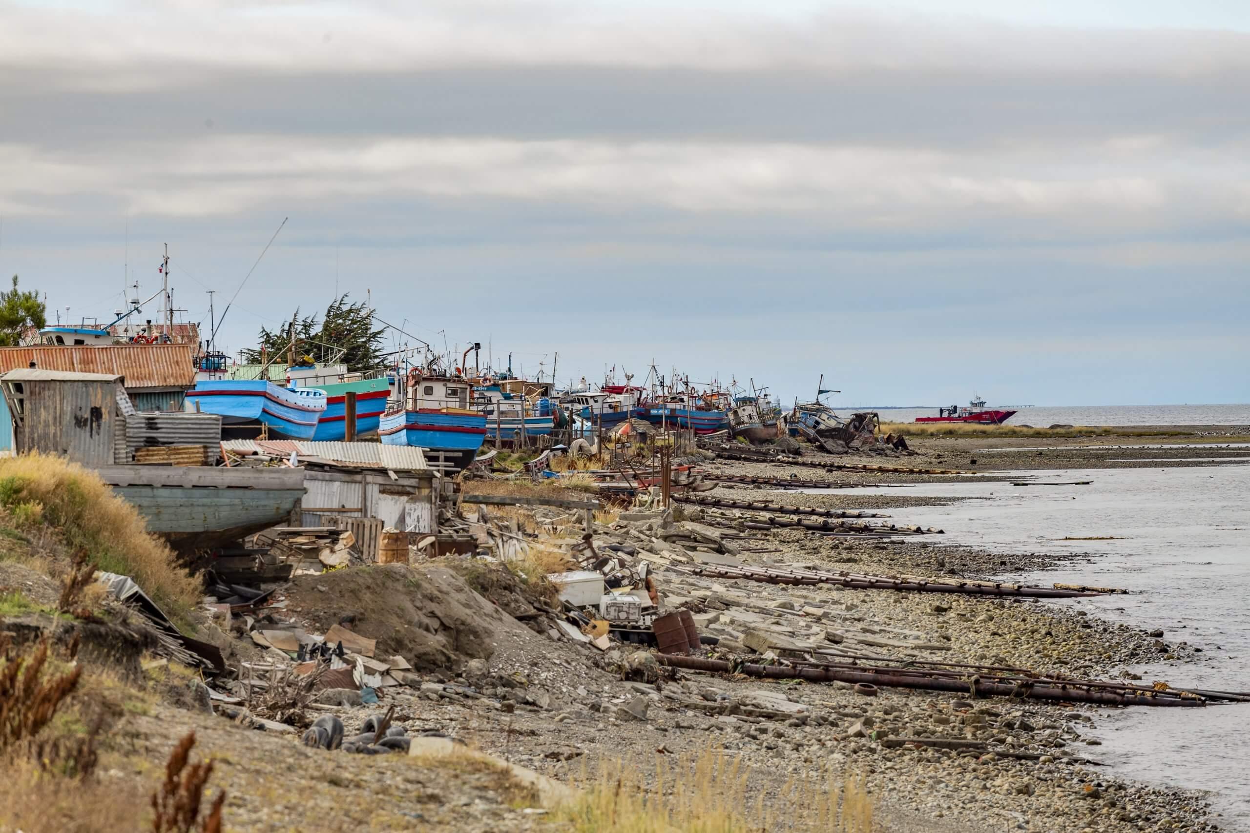 Fischerboote im Süden Punta Arenas'